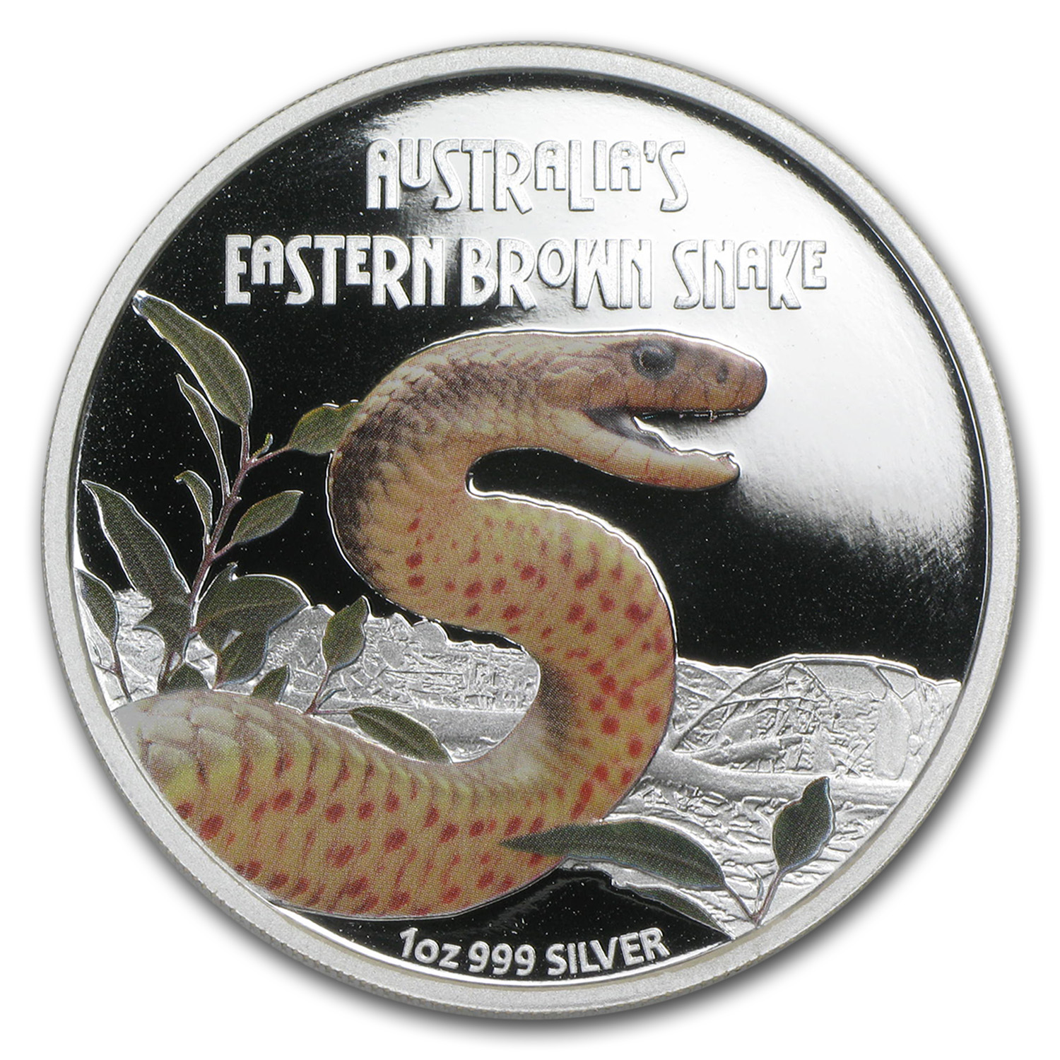 2010 1 oz Proof Silver Eastern Brown Snake- Deadly and Dangerous