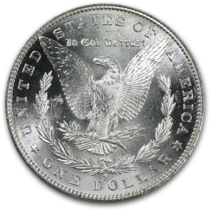 1880-S Morgan Dollar - MS-64 PCGS - VAM-10 8 over 7 Top-100