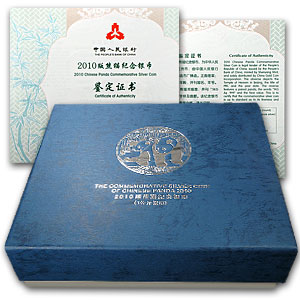 2010 (Kilo Proof) Silver Chinese Panda (W/Box & Coa)