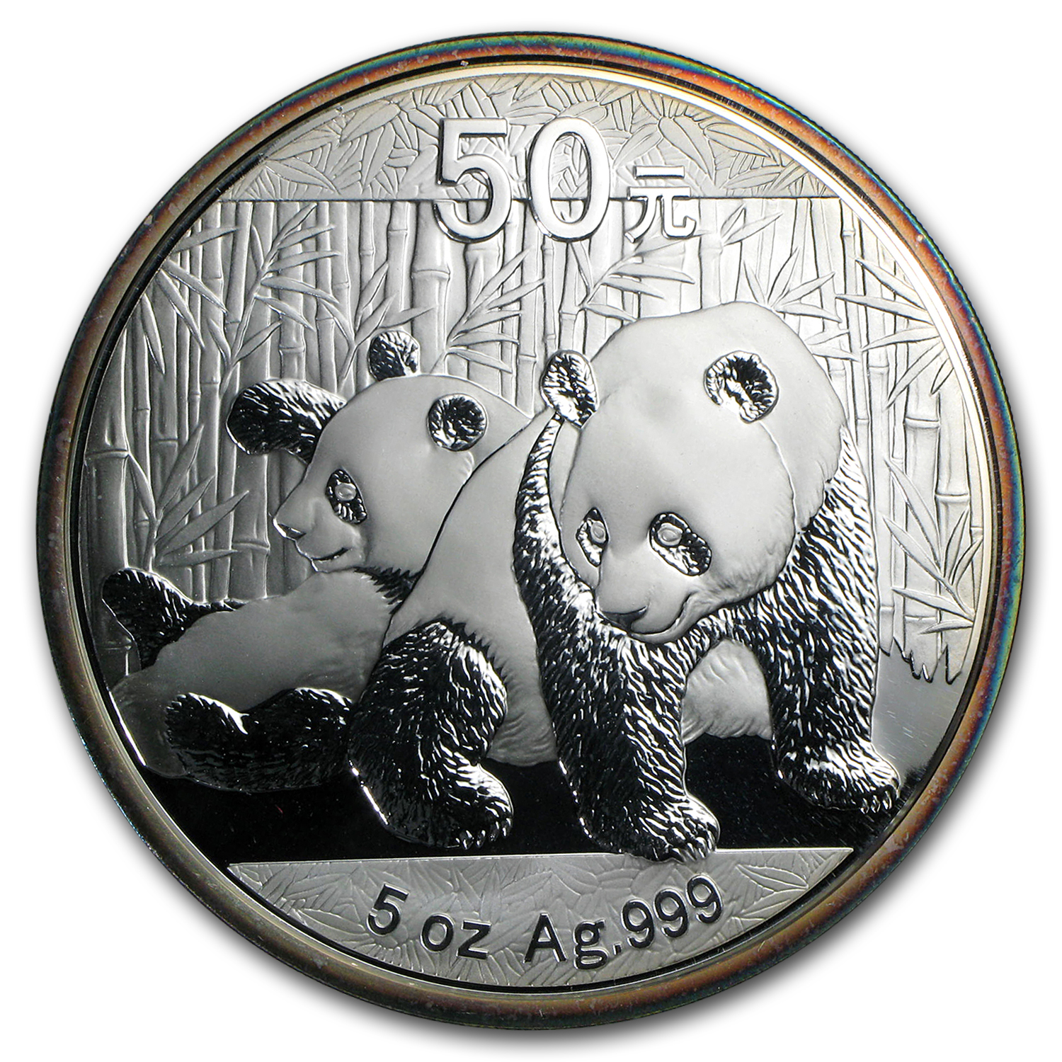 2010 - (5 oz) Silver Panda Proof (W/Box & Coa)