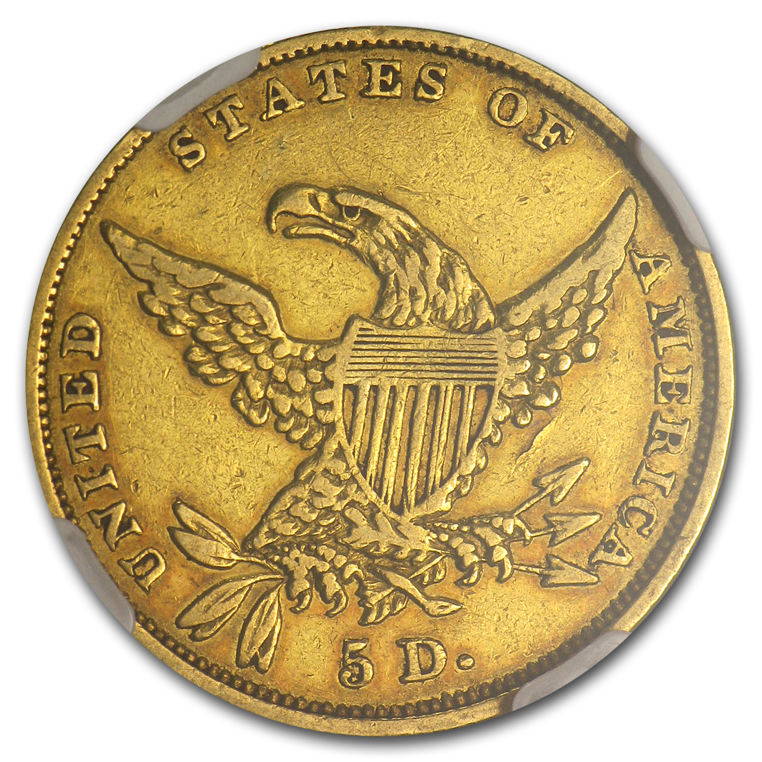 1834 $5 Gold Classic Head Half Eagle - Plain 4 - XF-40 NGC