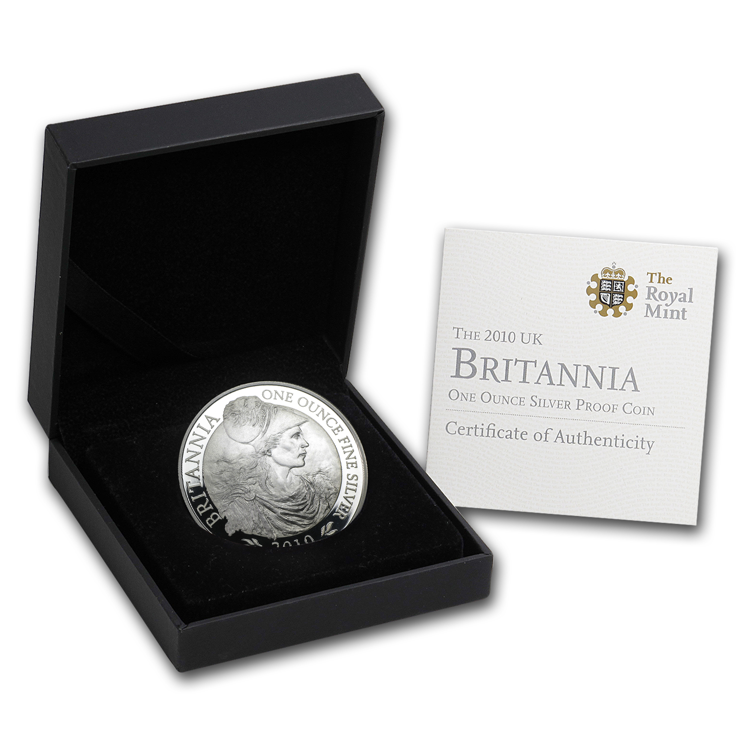 2010 Great Britain 1 oz Silver Britannia Proof (w/Box & COA)