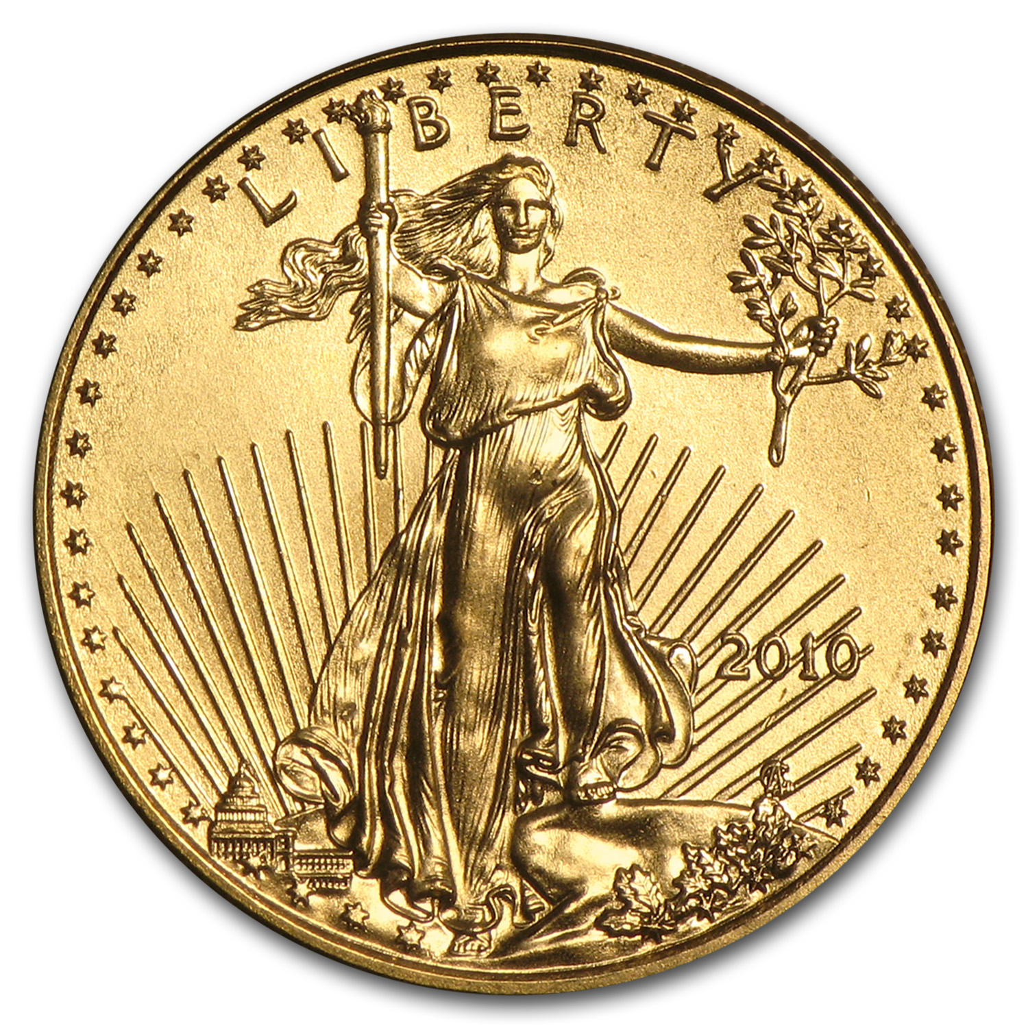 2010 1/10 oz Gold American Eagle BU