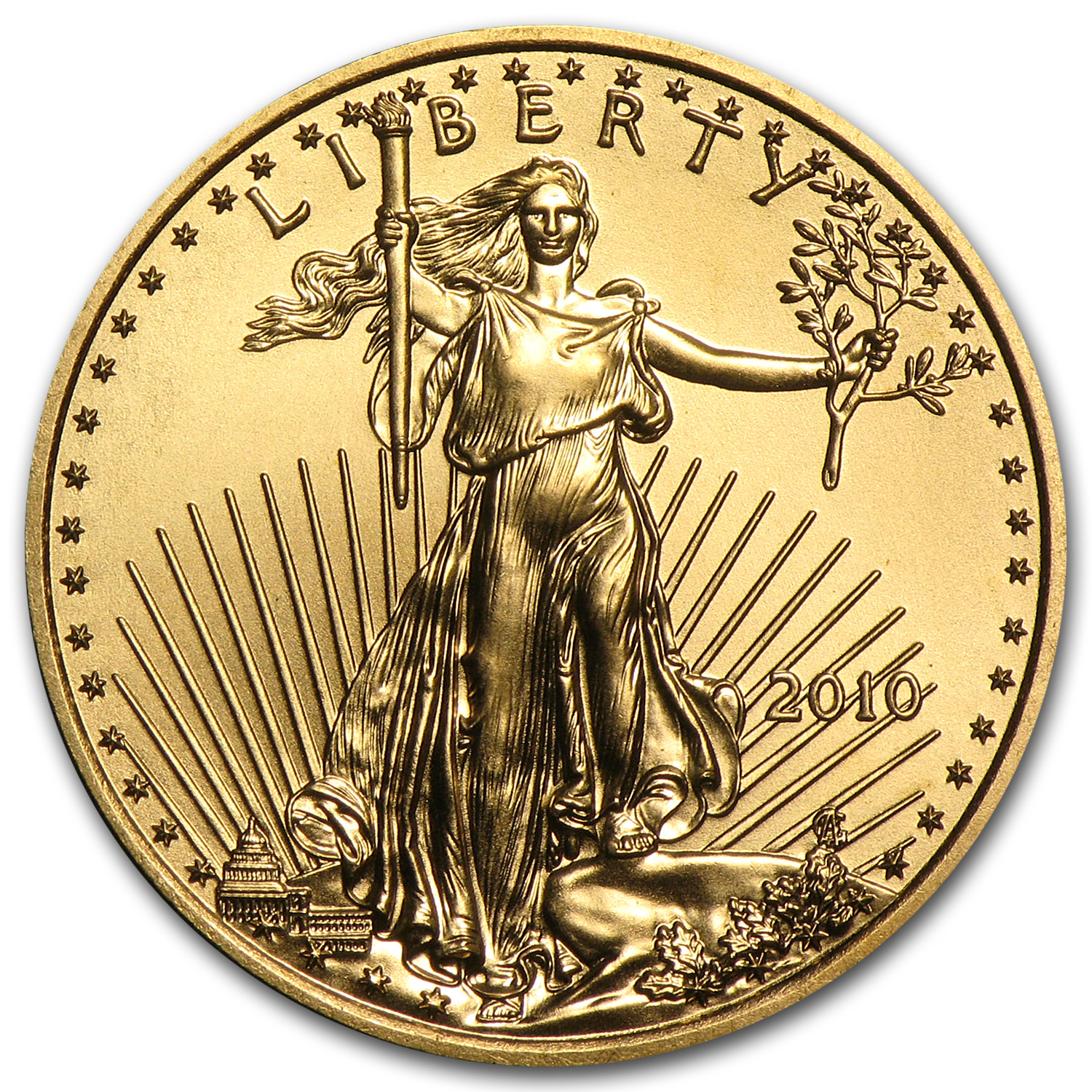 2010 1/4 oz Gold American Eagle BU