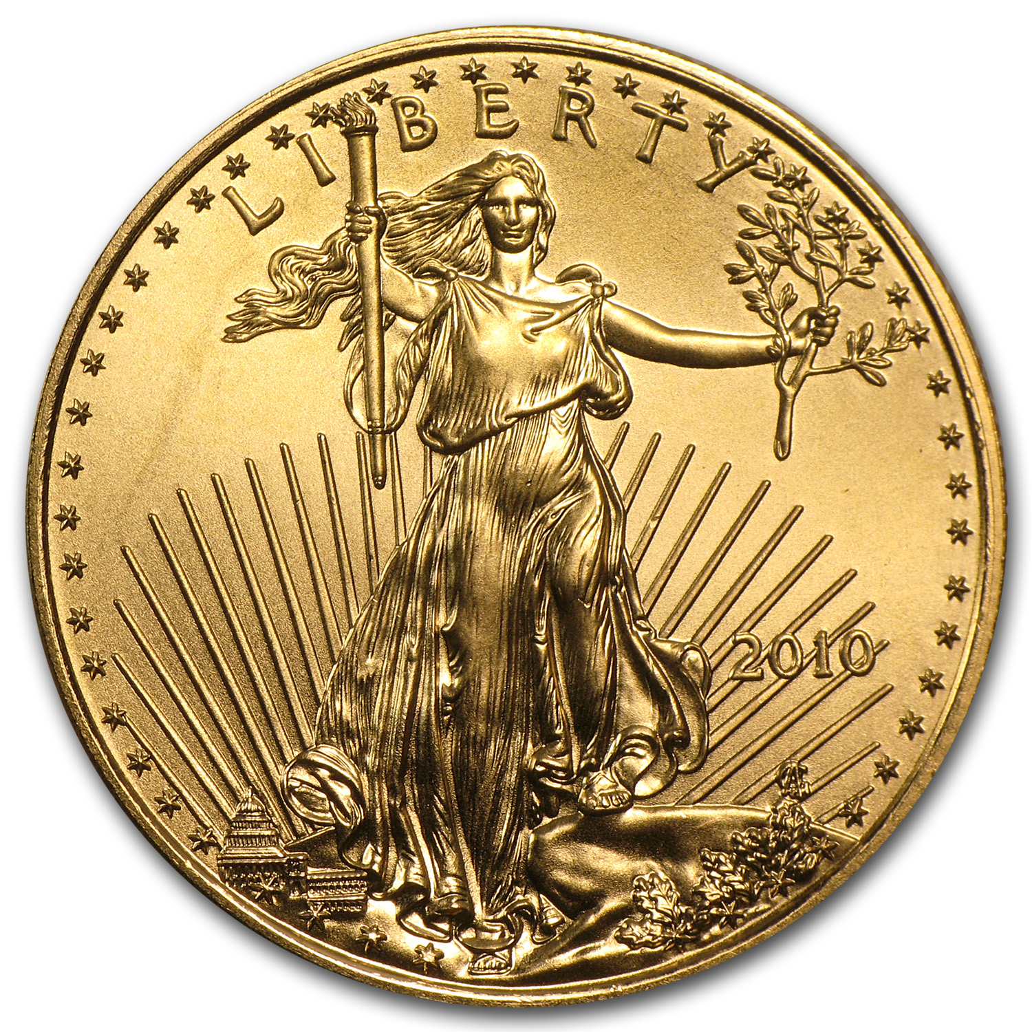 2010 1/2 oz Gold American Eagle BU