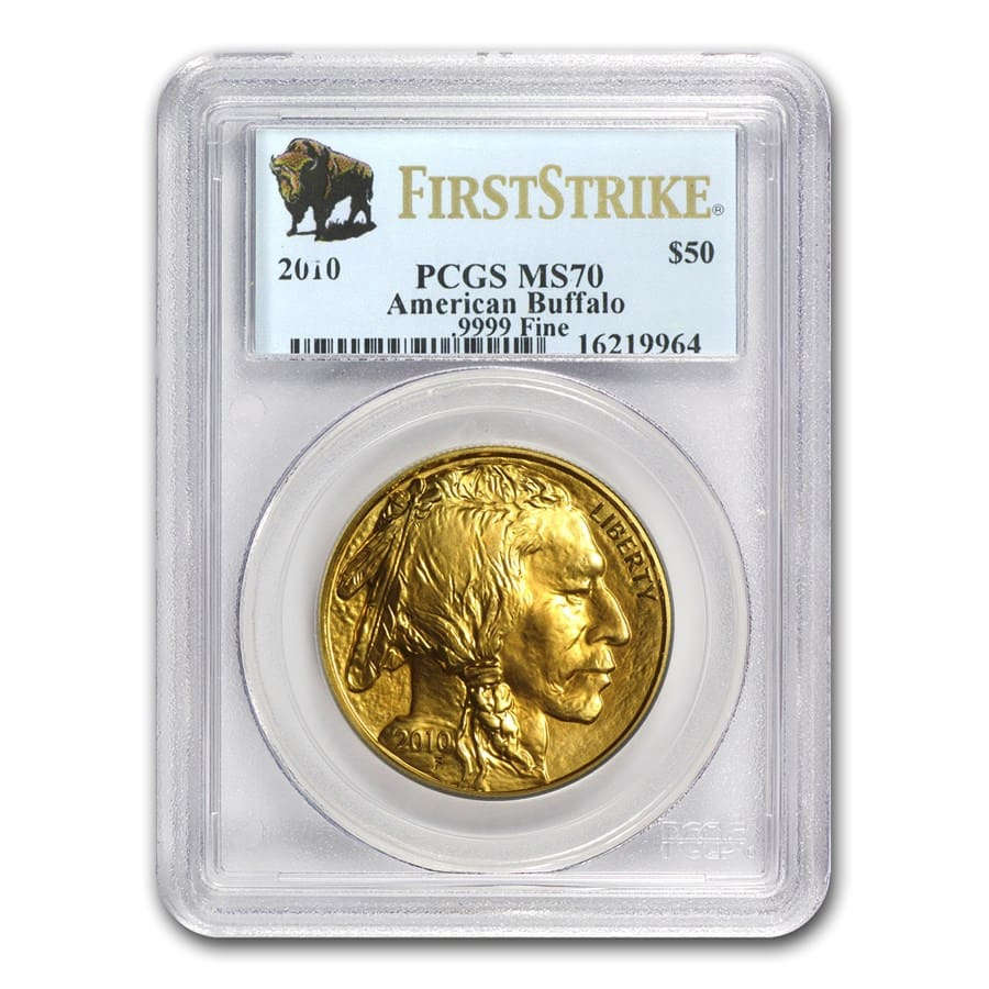 2010 1 oz Gold Buffalo MS-70 PCGS (First Strike)