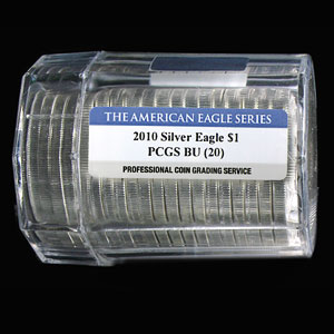 2010 Silver American Eagles - BU PCGS - 20-Coin Sealed Tube