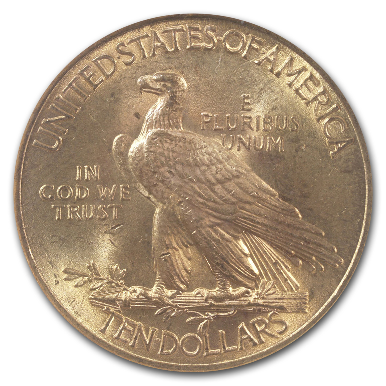 1912 $10 Indian Gold Eagle MS-63 NGC