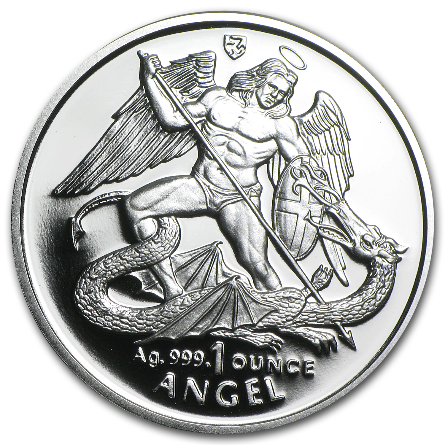 1995 Isle of Man 1 oz Silver Angel Proof (w/Box & COA)