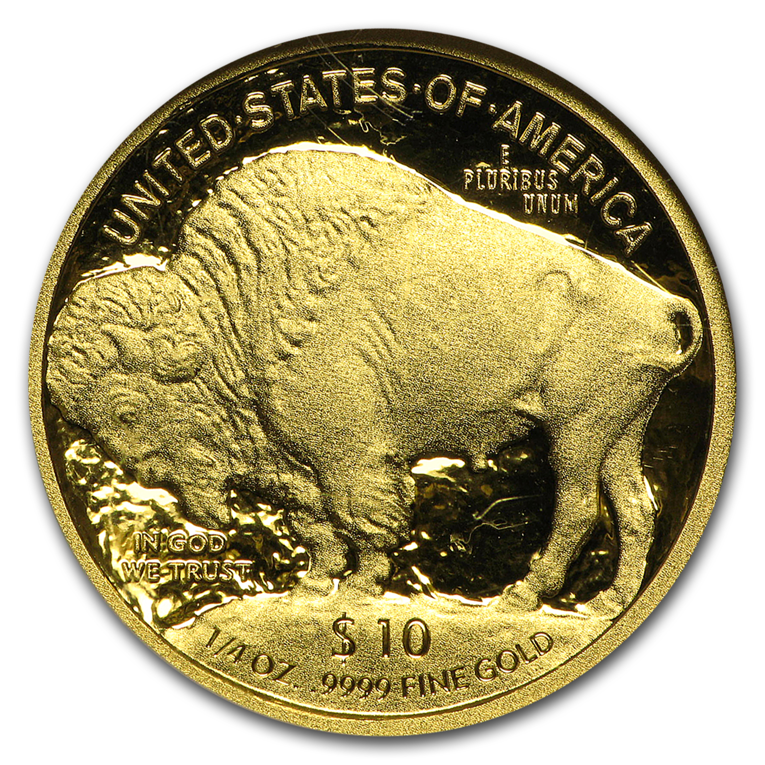 2008-W 1/4 oz Proof Gold Buffalo PF-70 NGC (ER)