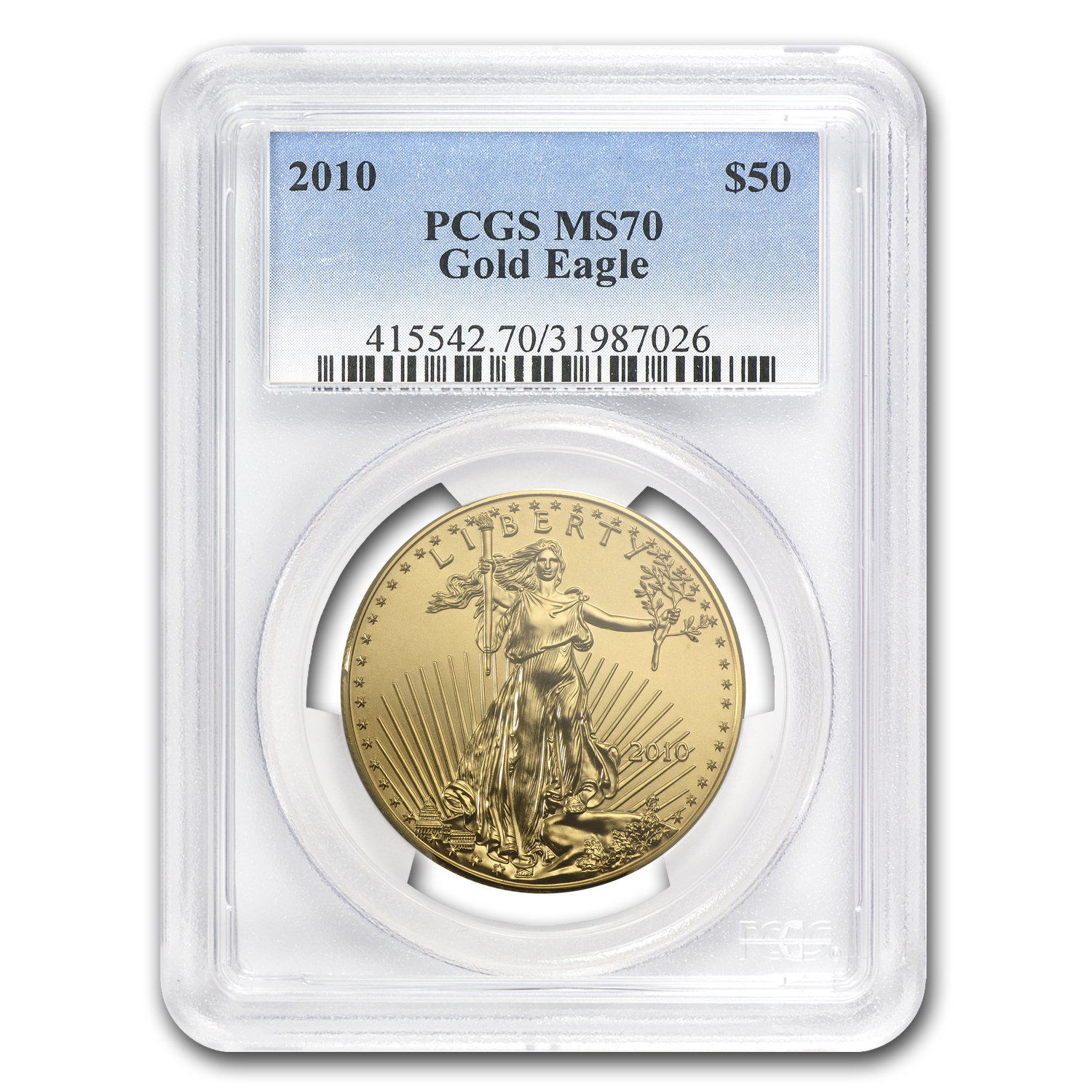 2010 1 oz Gold American Eagle MS-70 PCGS