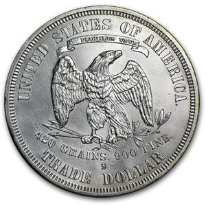 1877-S Trade Dollar - Brilliant Uncirculated Details - Cleaned