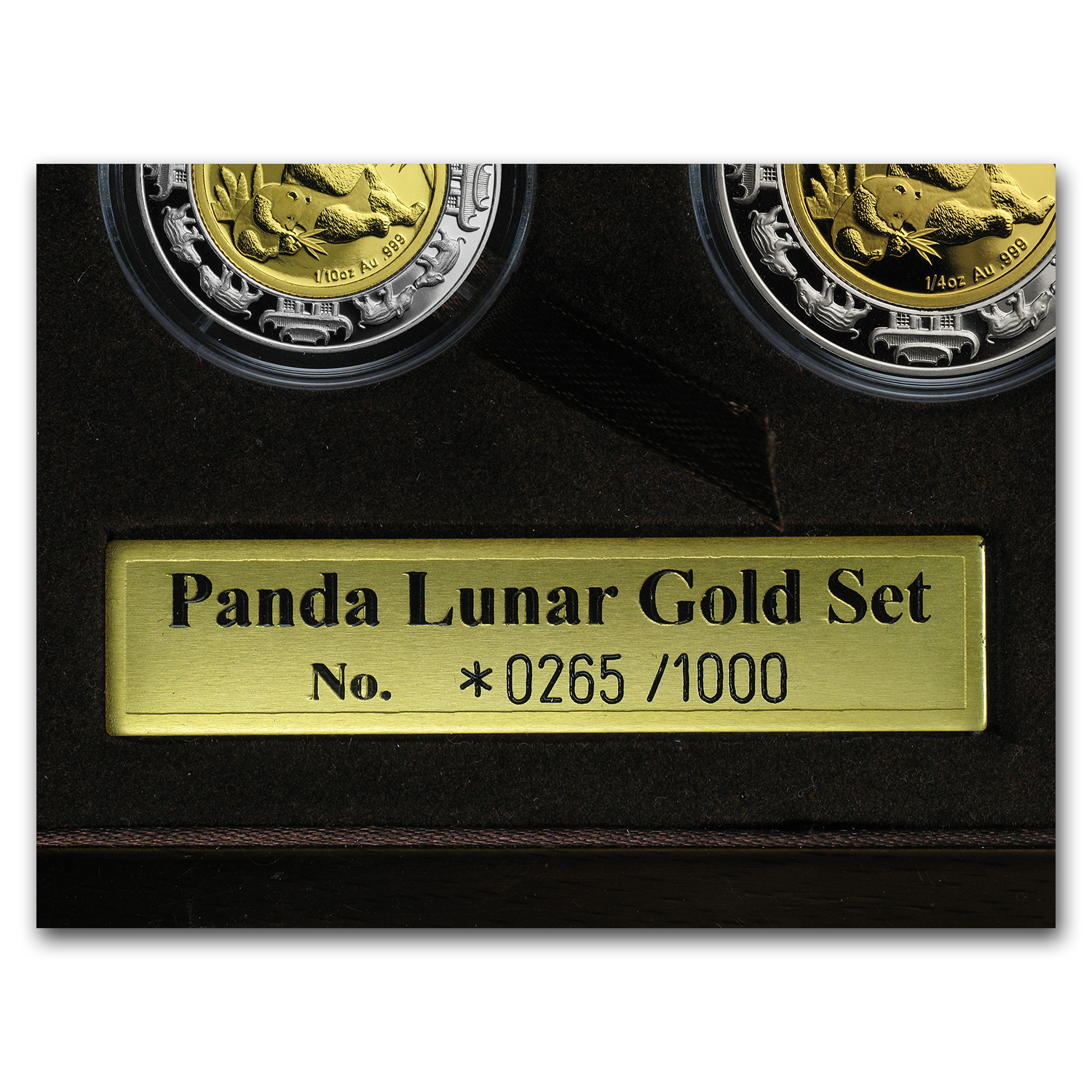 2007 China 4-Coin Gold/Silver Panda/Pig Lunar Prestige Prf Set