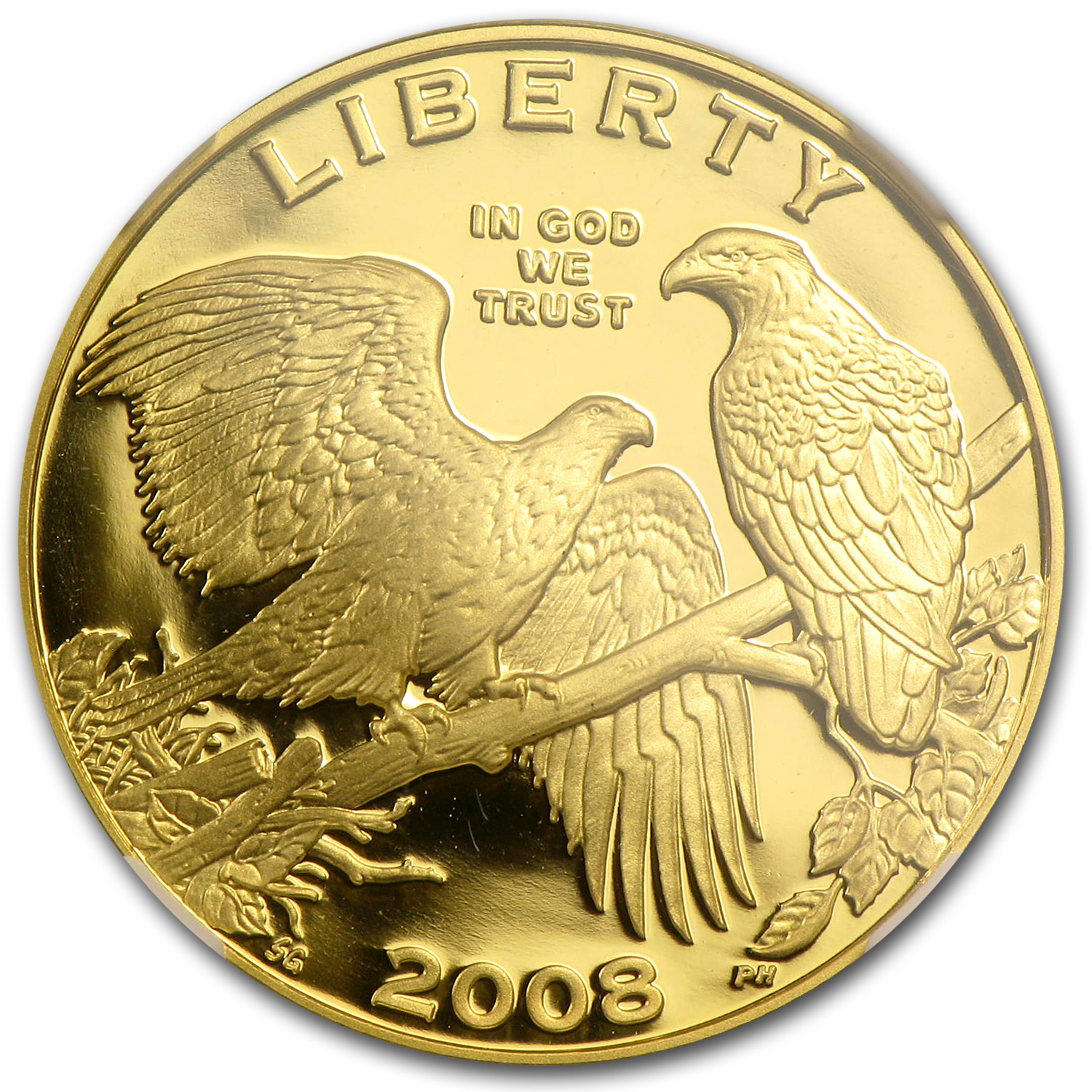 2008-W Bald Eagle - $5 Gold Commemorative - PF-70 UCAM NGC