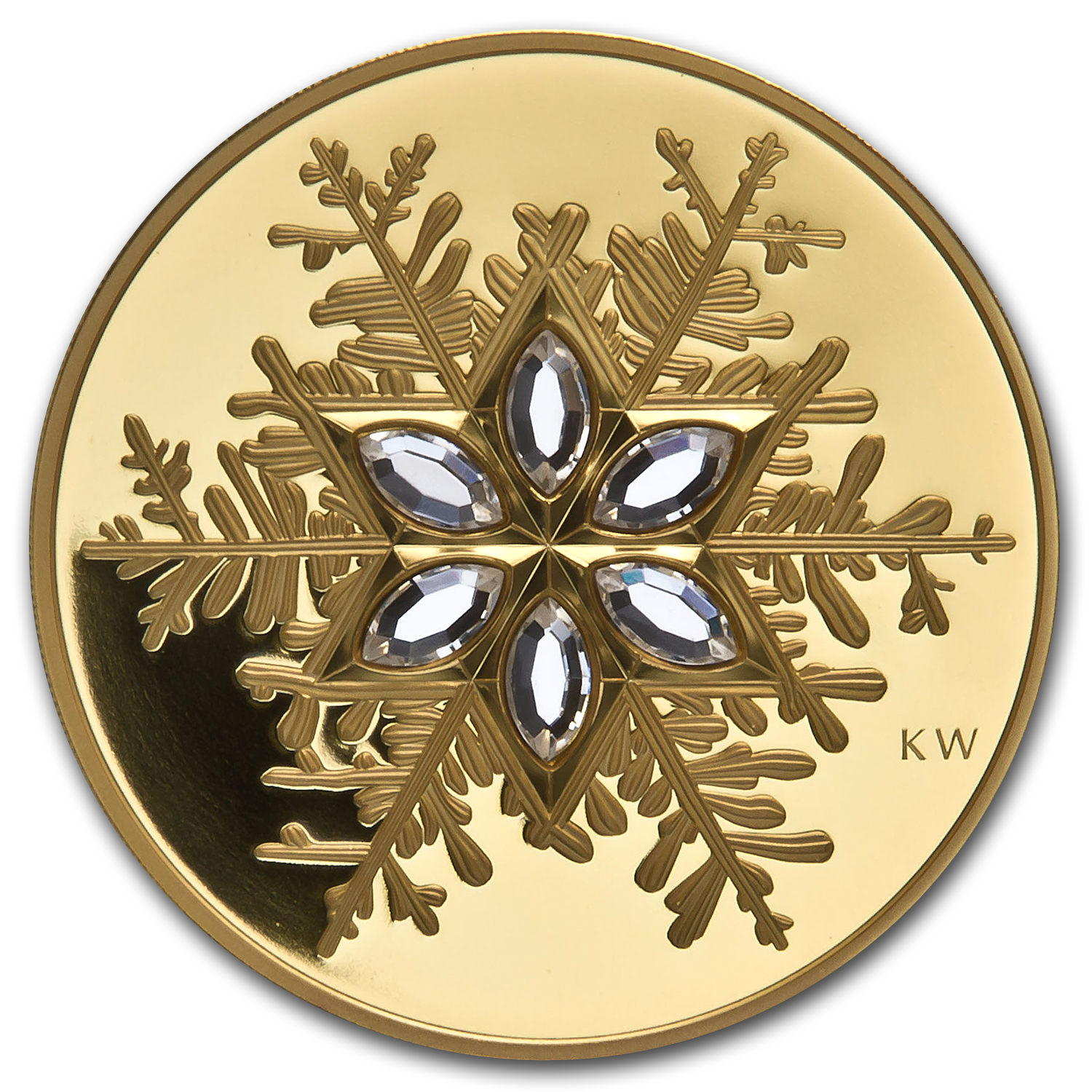 Canada 2006 $300 Proof Gold Coin Crystal Snowflake