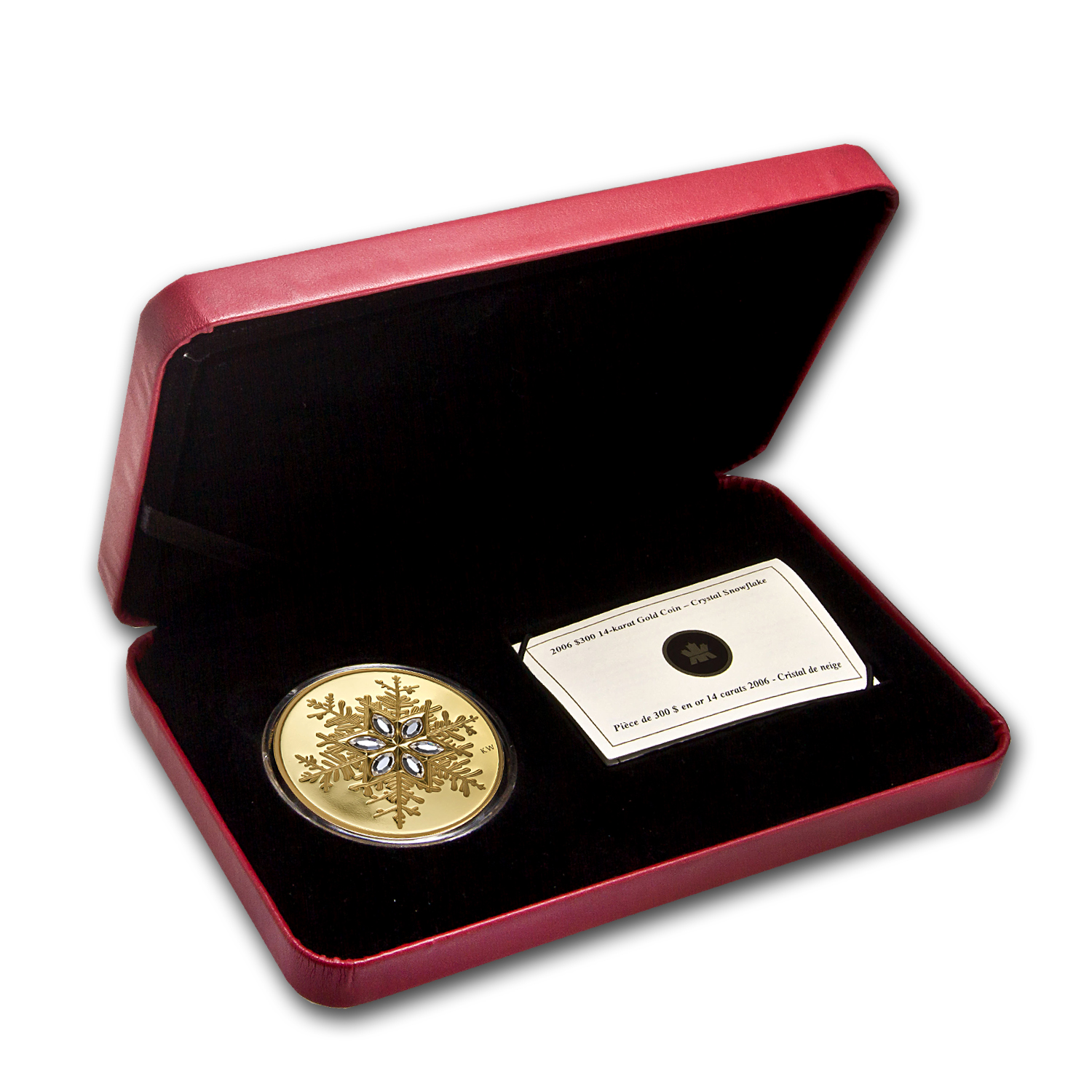 2006 Canada Proof Gold $300 Crystal Snowflake