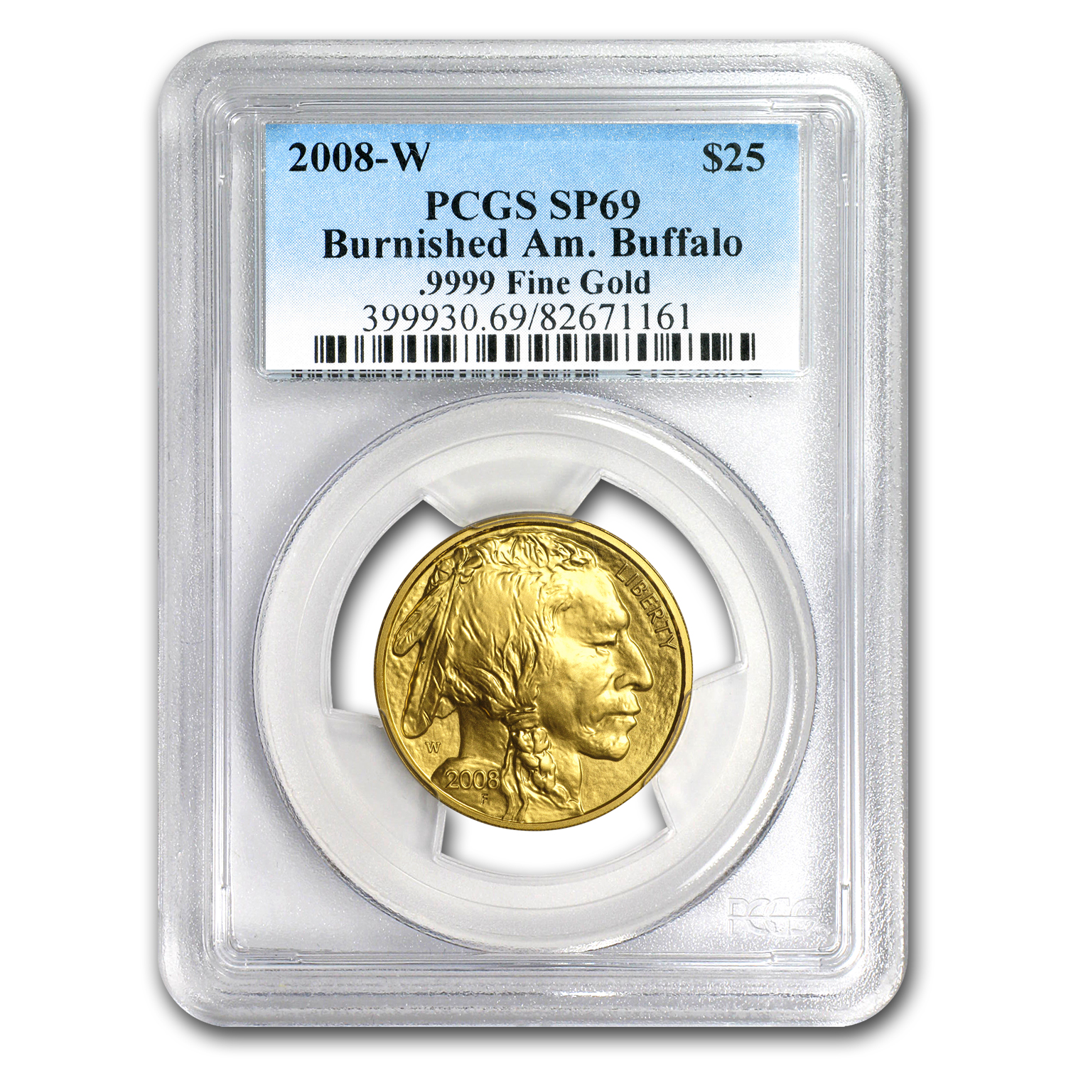 2008-W 1/2 oz Gold Buffalo SP/MS-69 PCGS