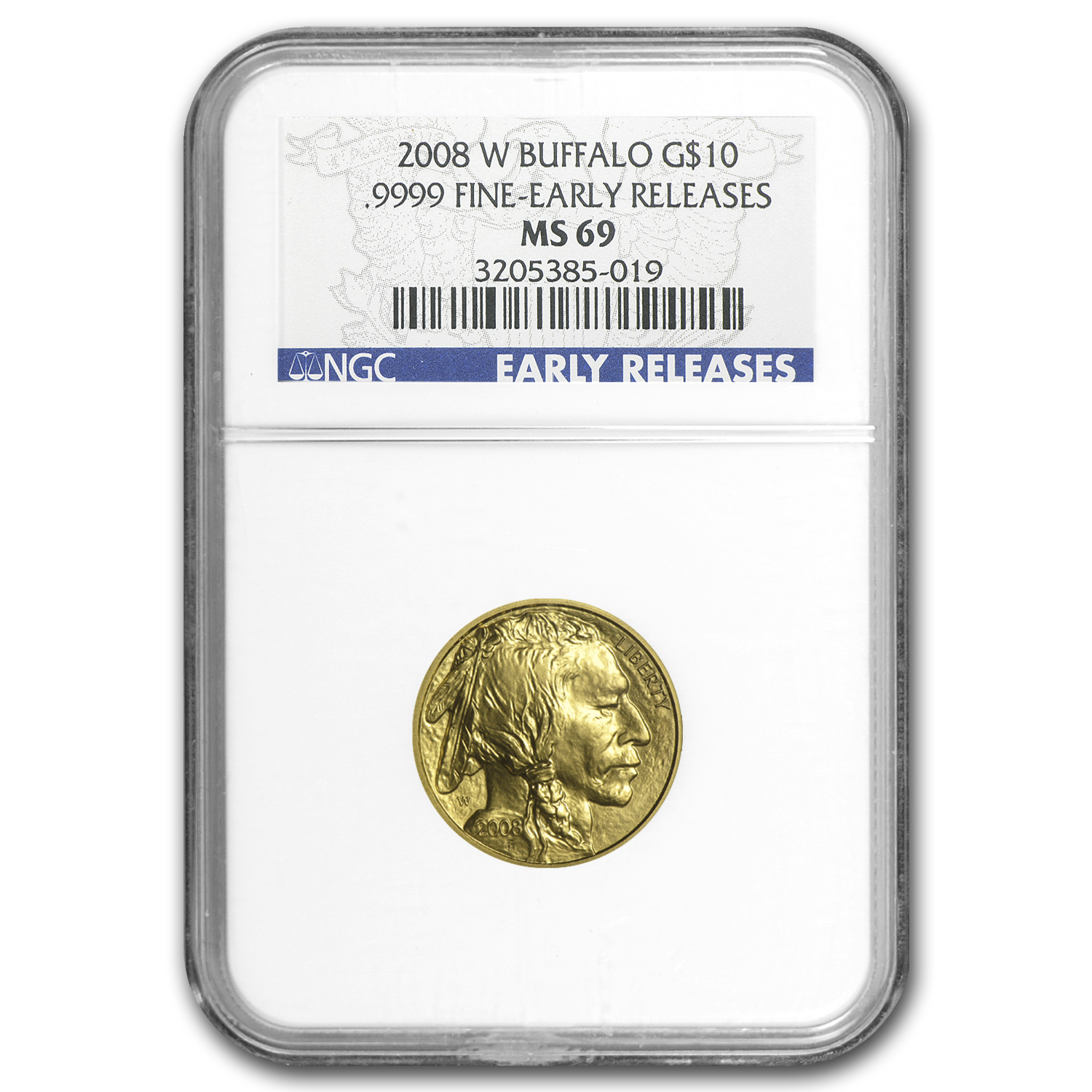 2008-W 1/4 oz Gold Buffalo MS-69 NGC (Early Releases)