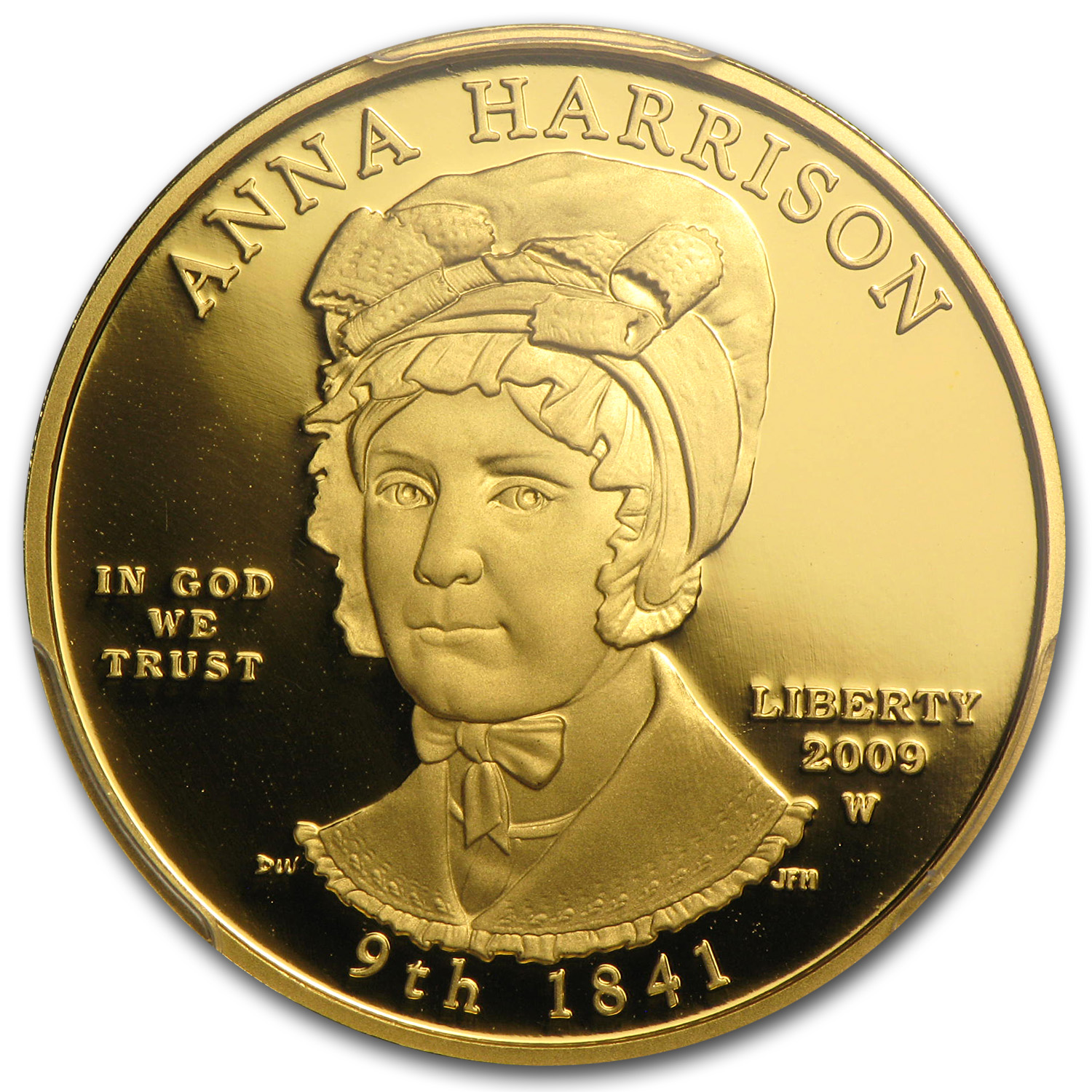 2009-W 1/2 oz Proof Gold Anna Harrison PR-69 PCGS