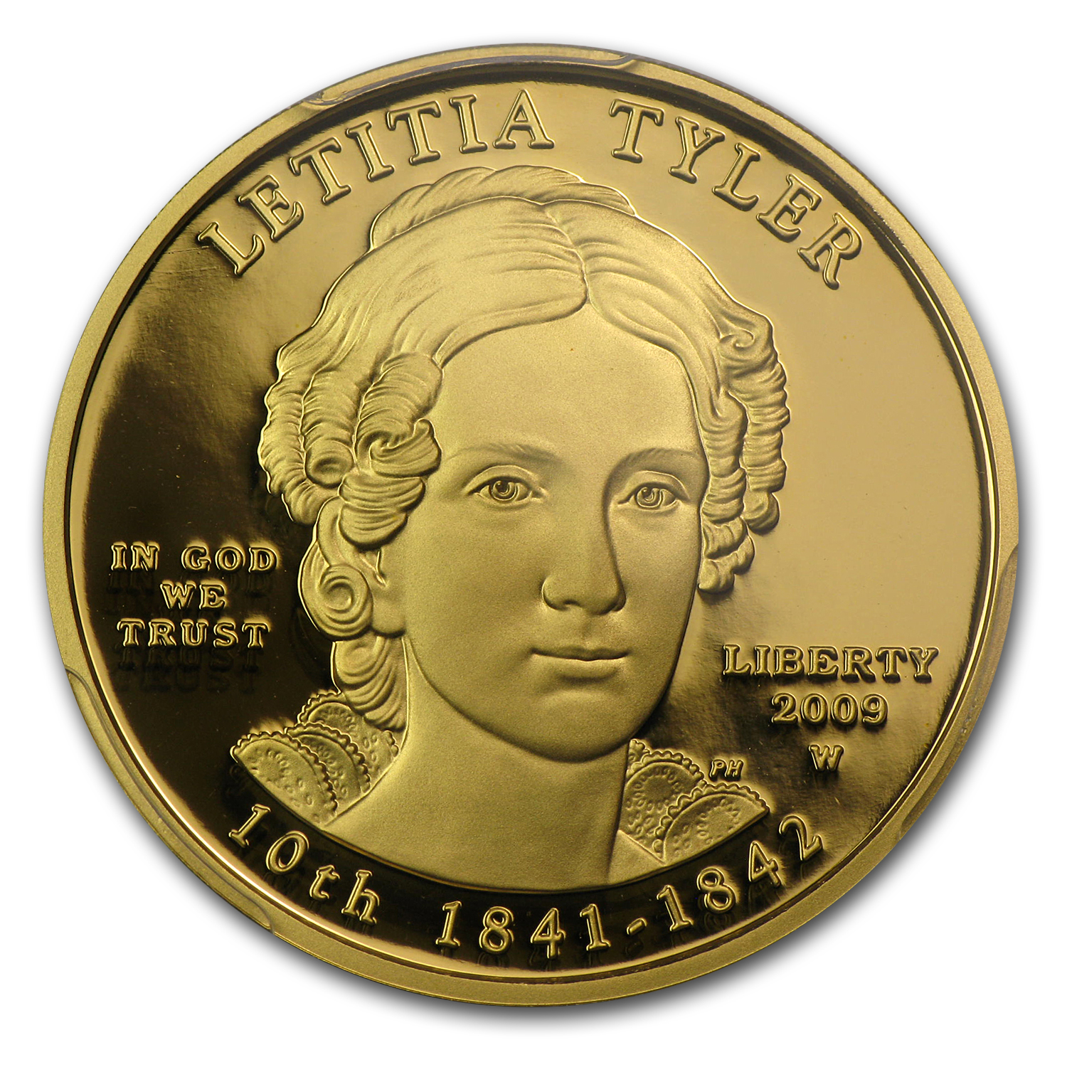 2009-W 1/2 oz Proof Gold Letitia Tyler PR-70 PCGS