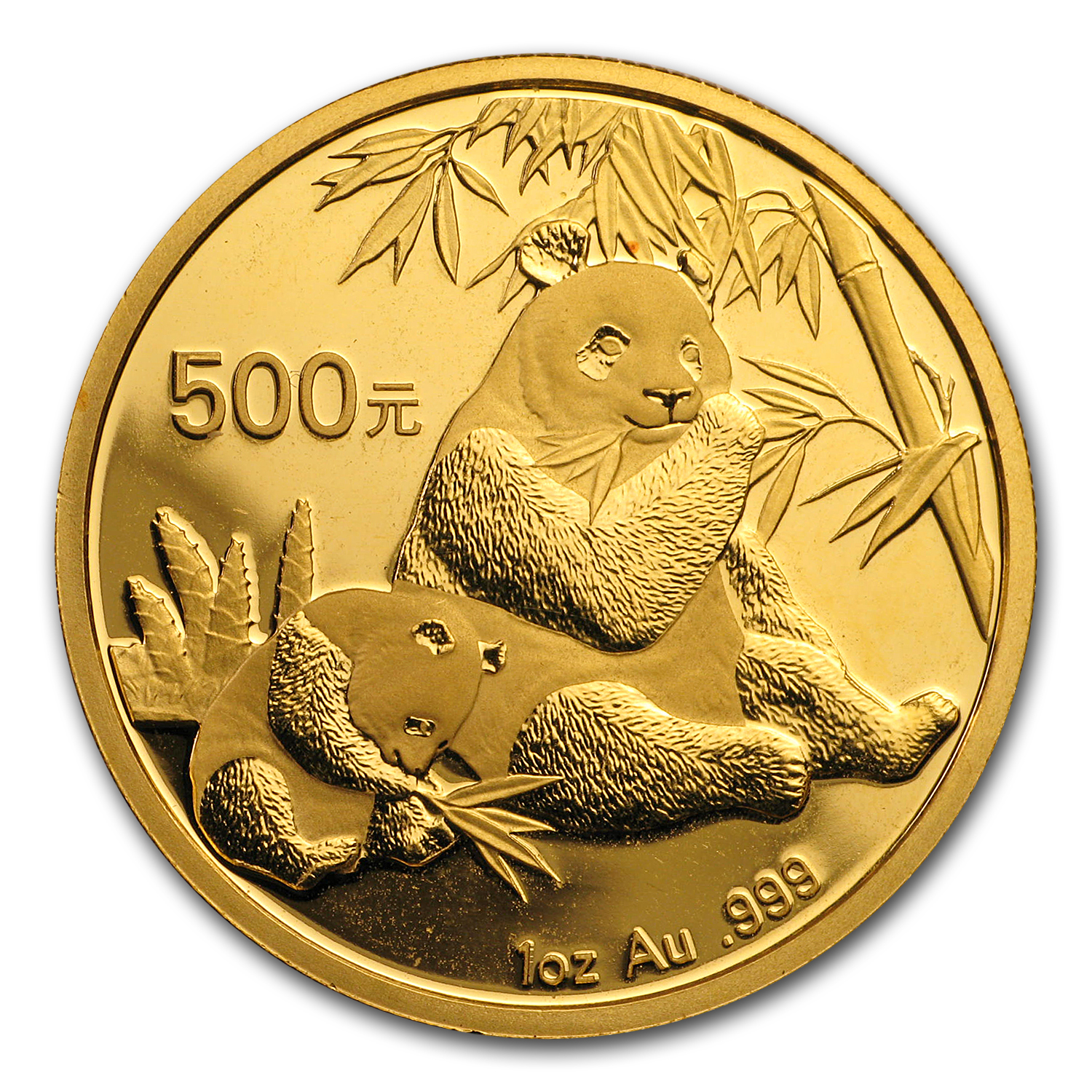 2007 China 1 oz Gold Panda BU (Not Sealed)