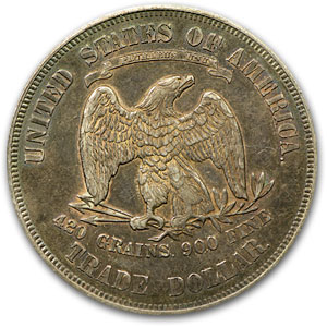 1876 Trade Dollar Almost Uncirculated-55 PCGS