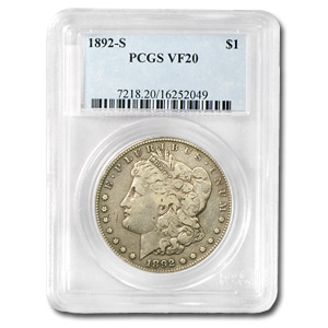 1892-S Morgan Dollar Very Fine-20 PCGS