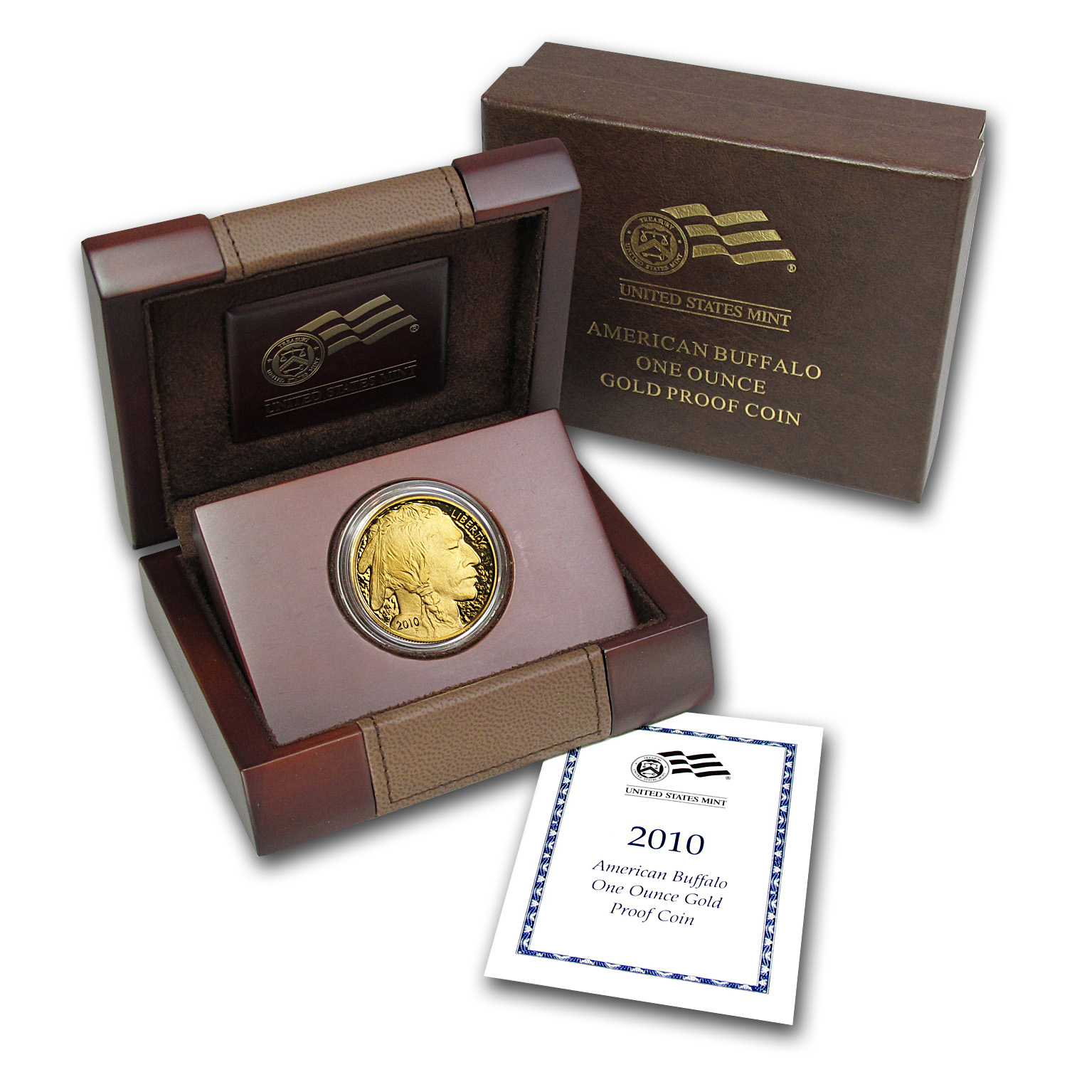 2010-W 1 oz Proof Gold Buffalo (w/Box & COA)