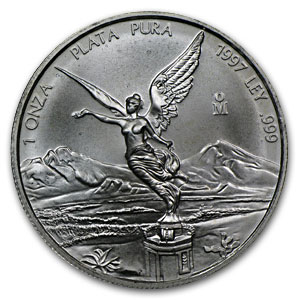 1997 Mexico 1 oz Silver Libertad (Circulated)