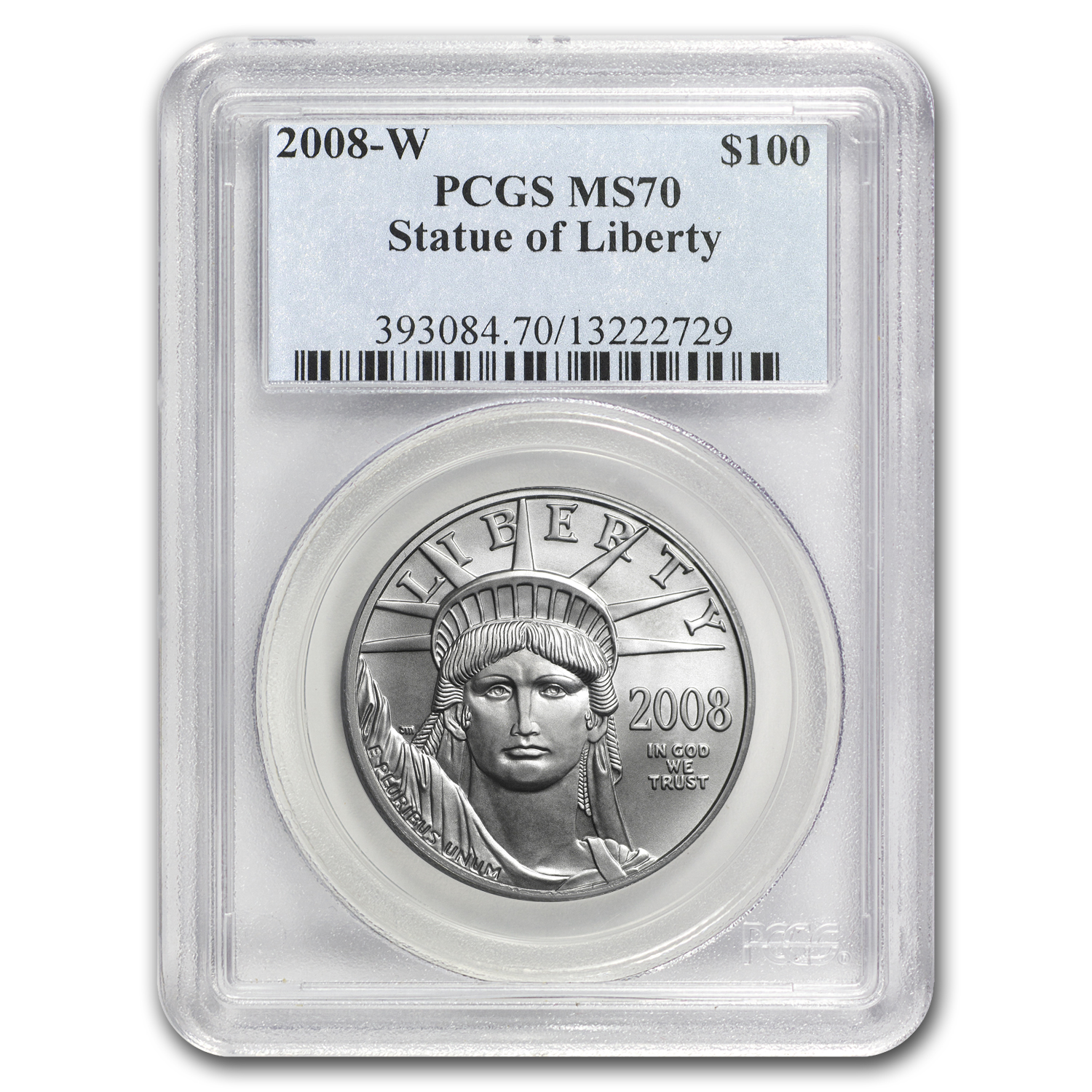 2008-W 1 oz Burnished Platinum American Eagle MS-70 PCGS