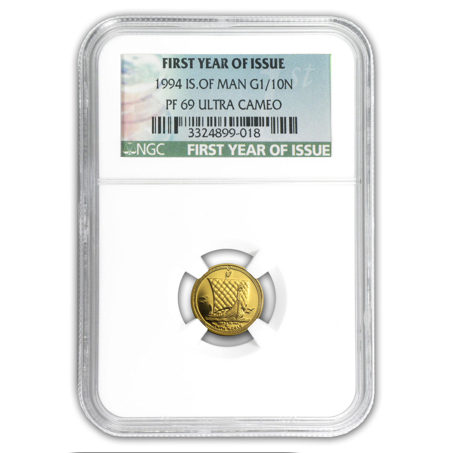 1994 Isle of Man 1/10 oz Proof Gold Noble PF-69 NGC