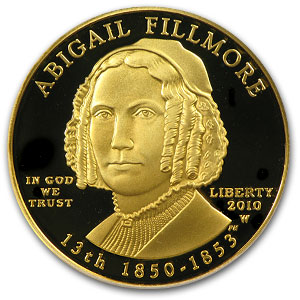 2010-W 1/2 oz Proof Gold Abigail Fillmore PR-70 PCGS (FS)