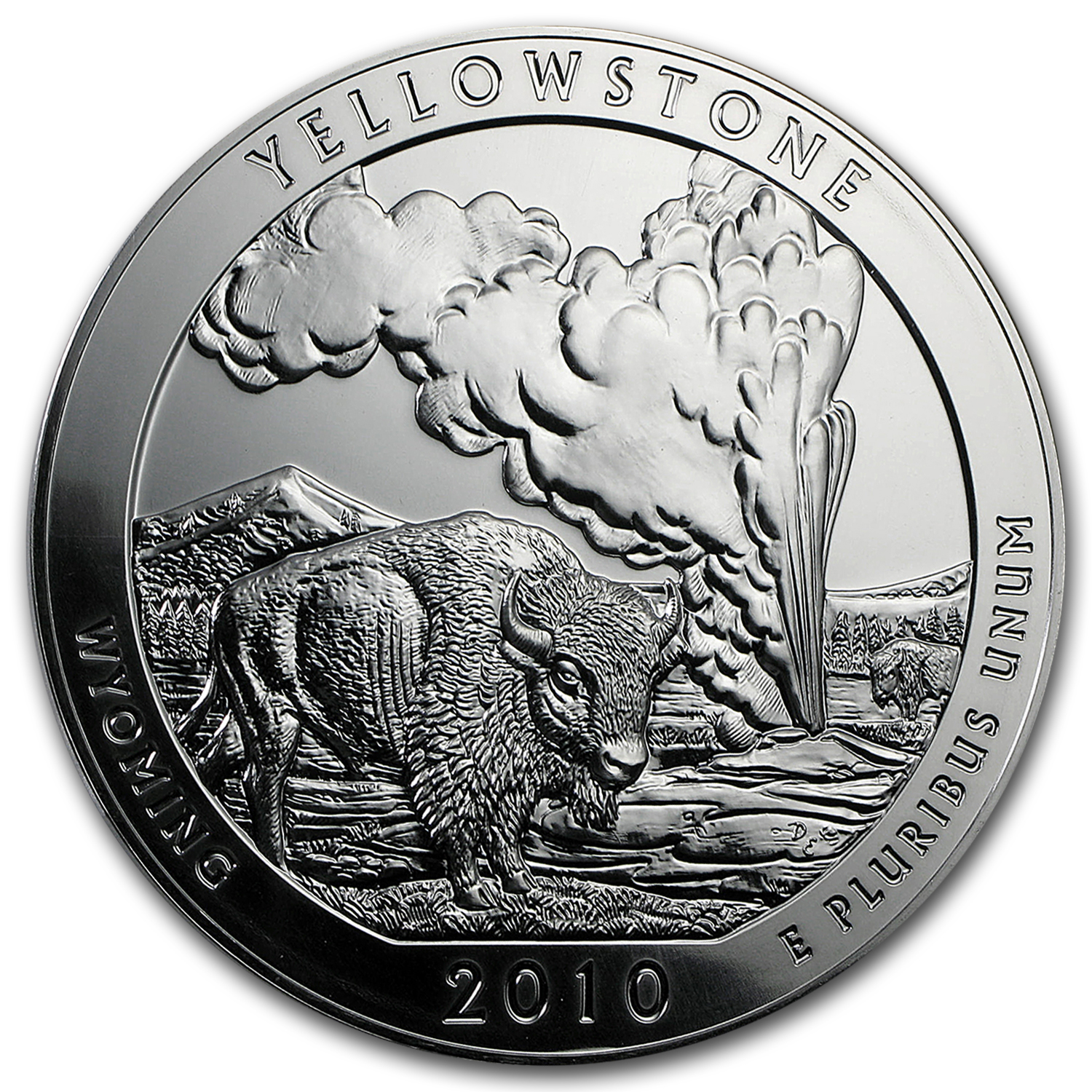 2010 5 oz Silver ATB - Yellowstone National Park, Wyoming