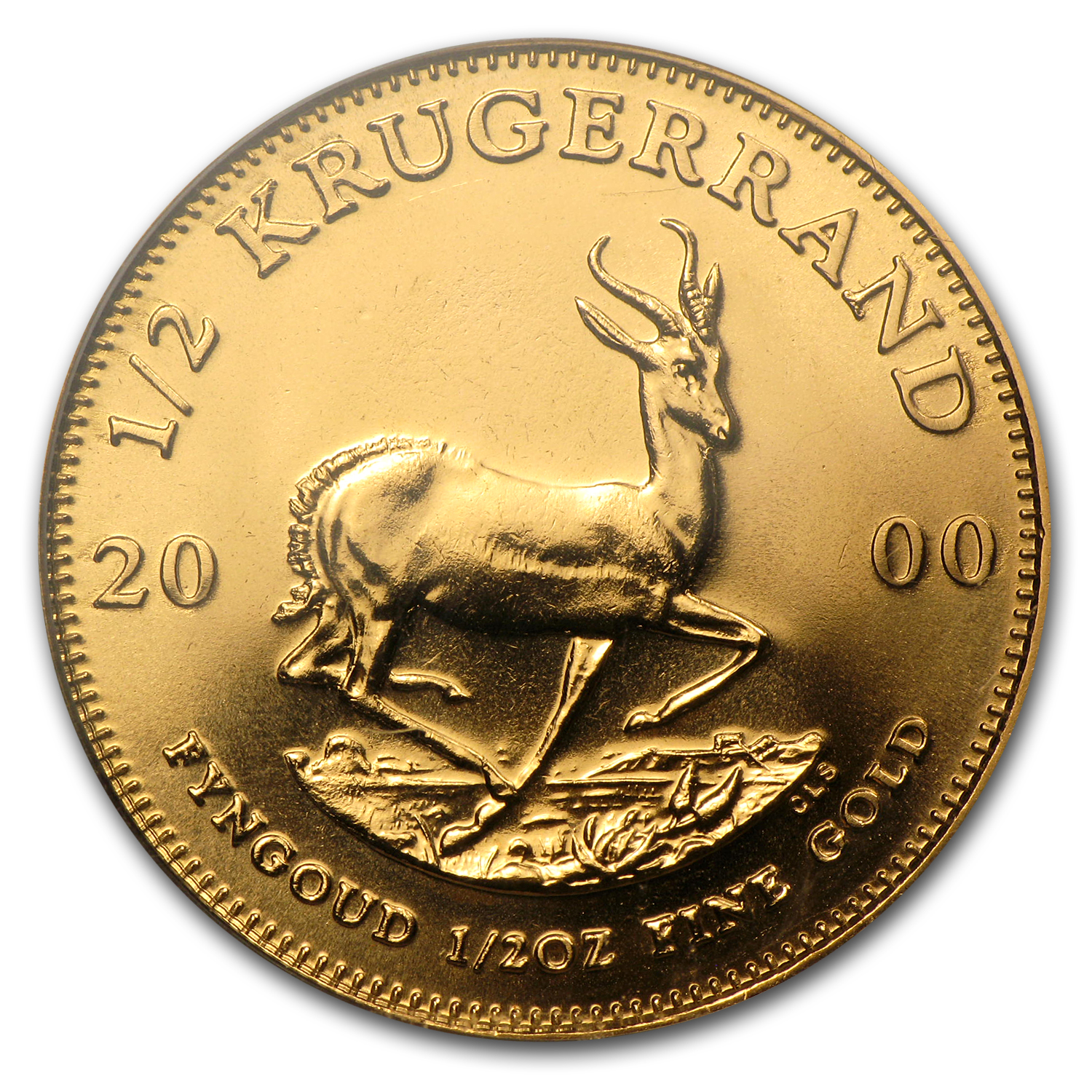 1/2 oz Gold South African Krugerrand PCGS (WTC)