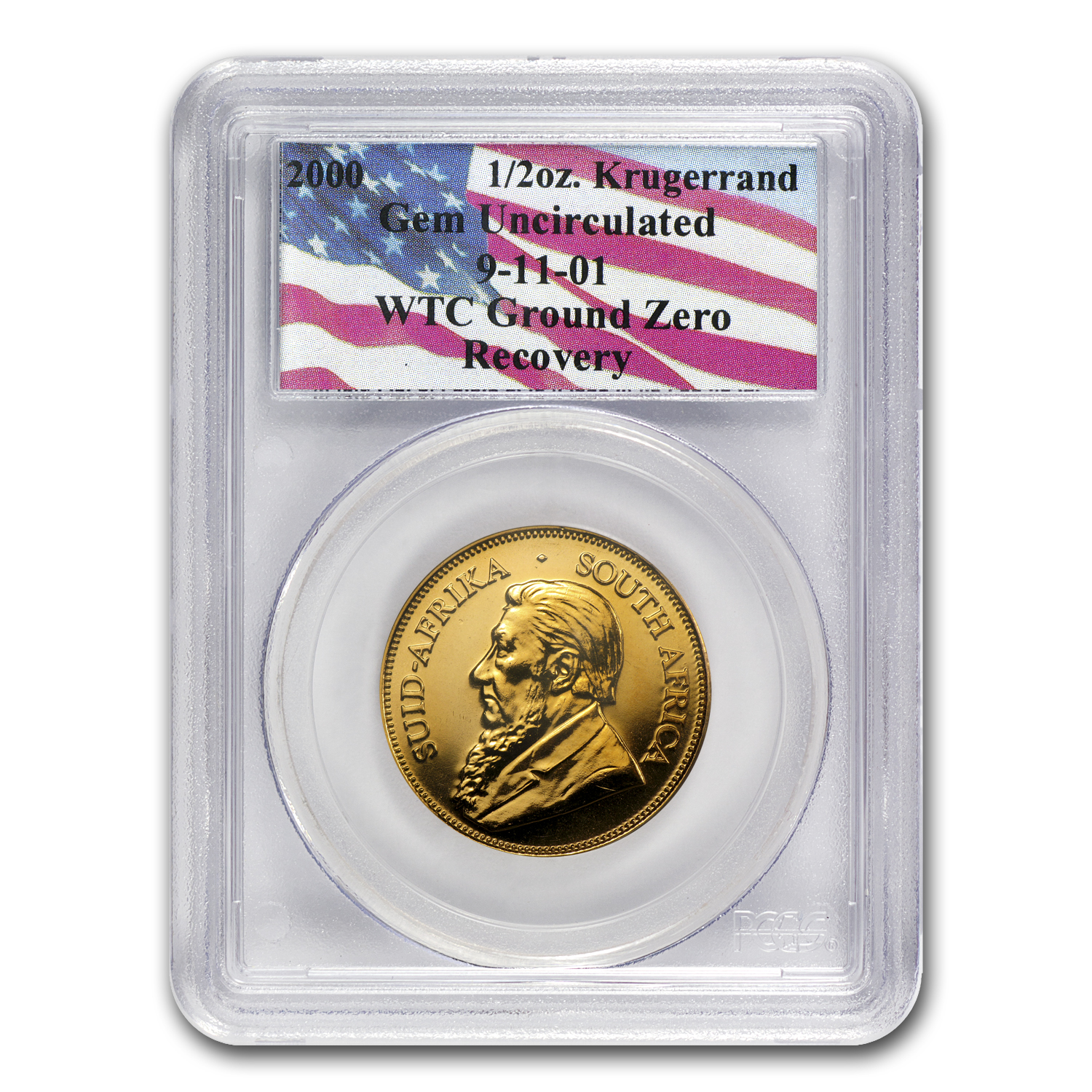 South Africa 1/2 oz Gold Krugerrand Unc PCGS (WTC)