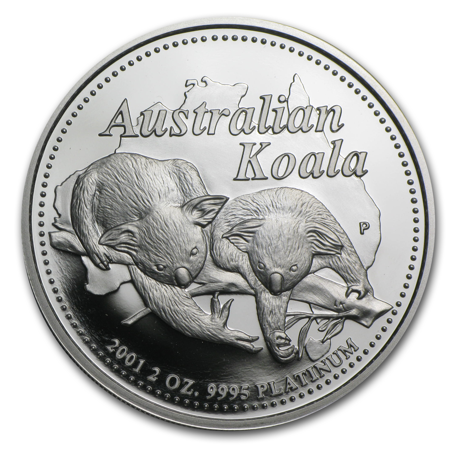 2001 2 oz Proof Australian Platinum Koala