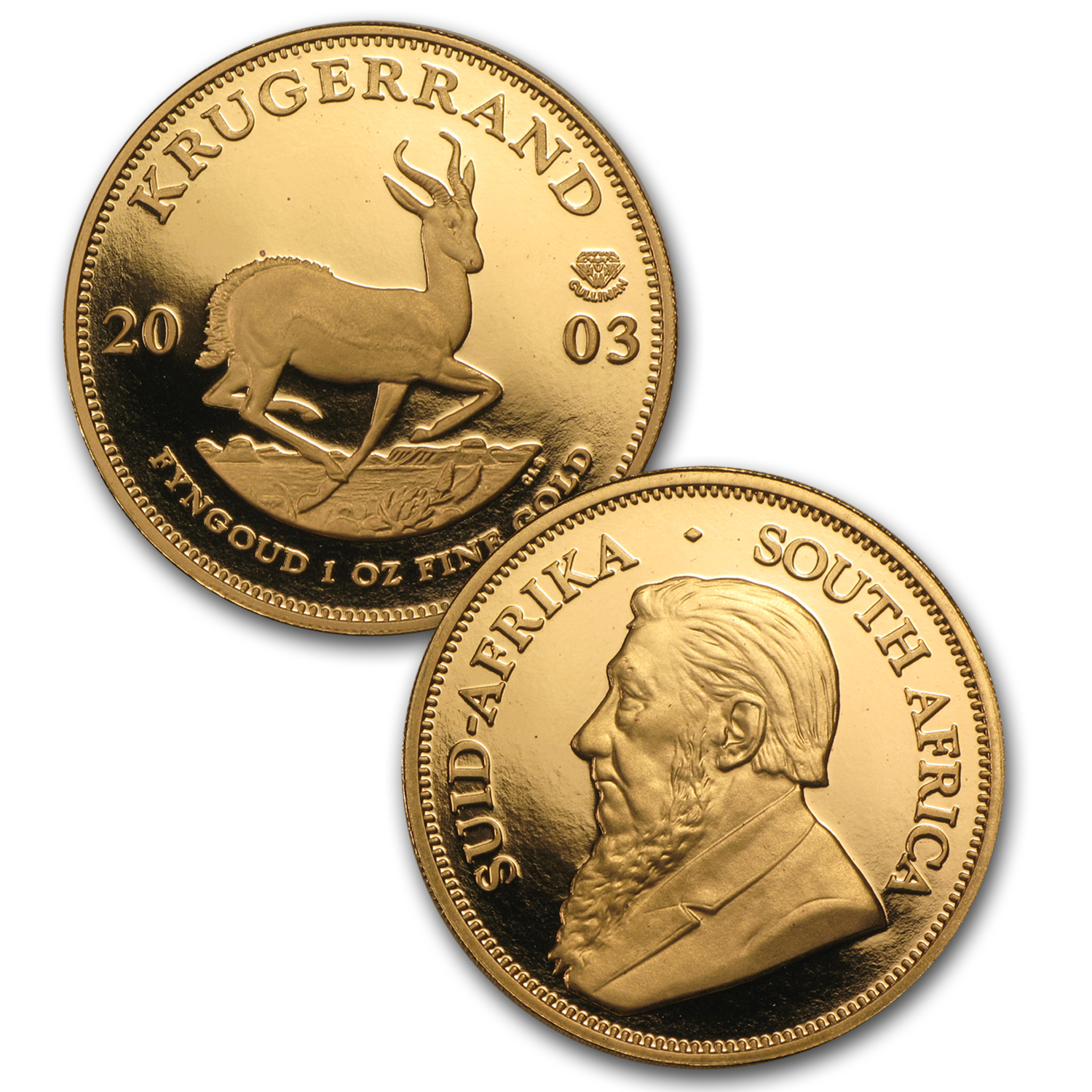 2003 2-Coin Proof South African Krugerrand Set (Cullinan 100th)