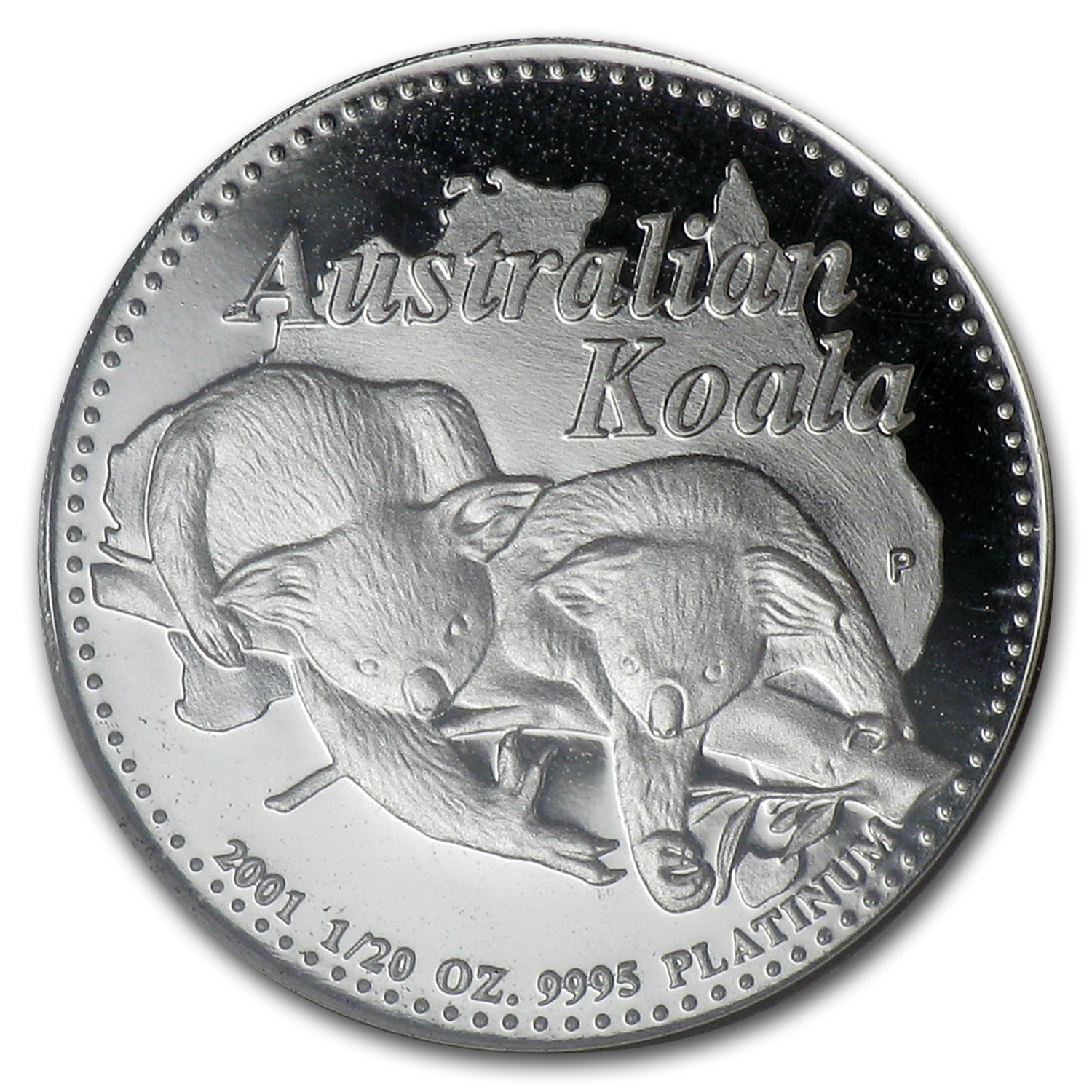 2001 5-Coin Australian Platinum Koala Proof Set (1.9 oz)