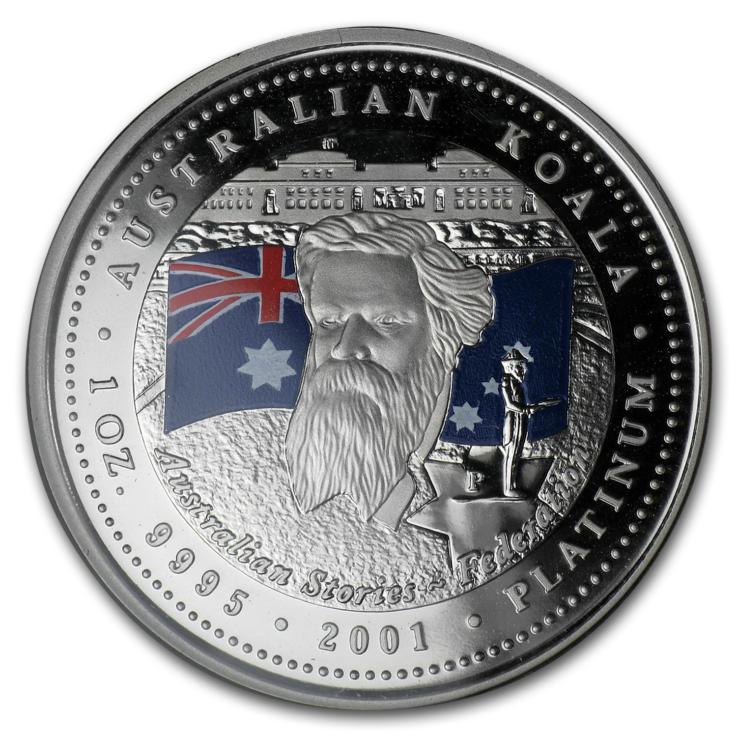 2001 5-Coin Proof Australian Platinum Koala Set (1.9 oz)