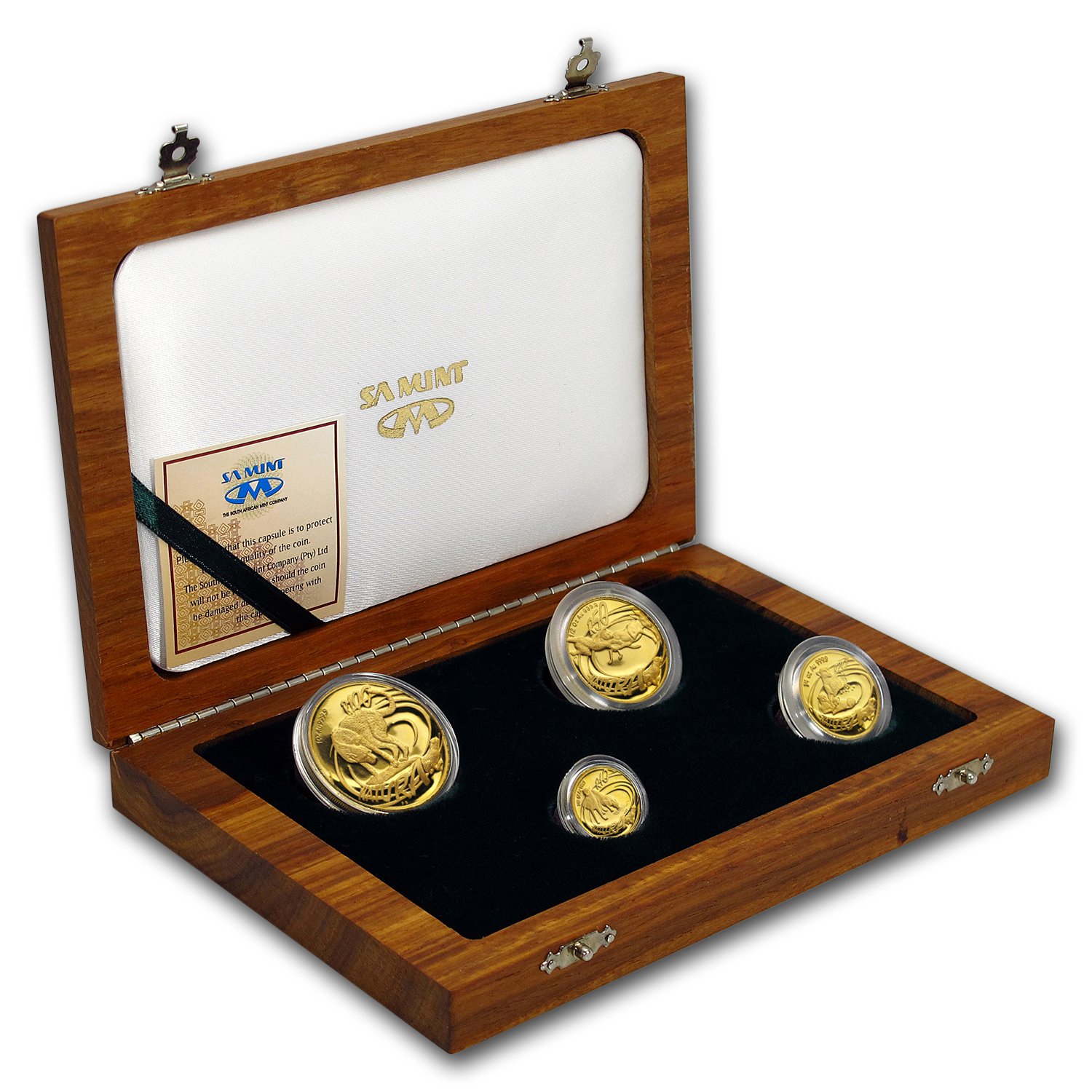 2002 South Africa 4-Coin Gold Natura Cheetah Proof Set