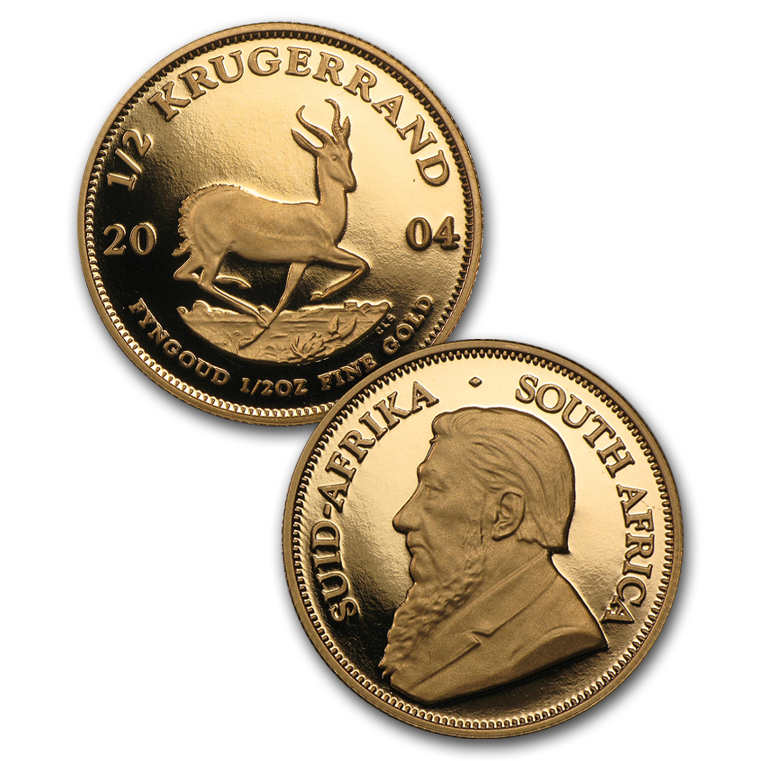 2004 5-Coin Gold South African Krugerrand Proof Set (Paul Kruger)