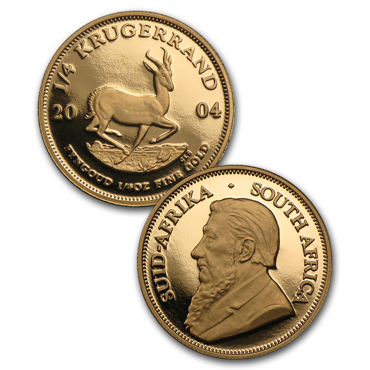 2004 South Africa 5-Coin Gold Krugerrand Proof Set (Paul Kruger)