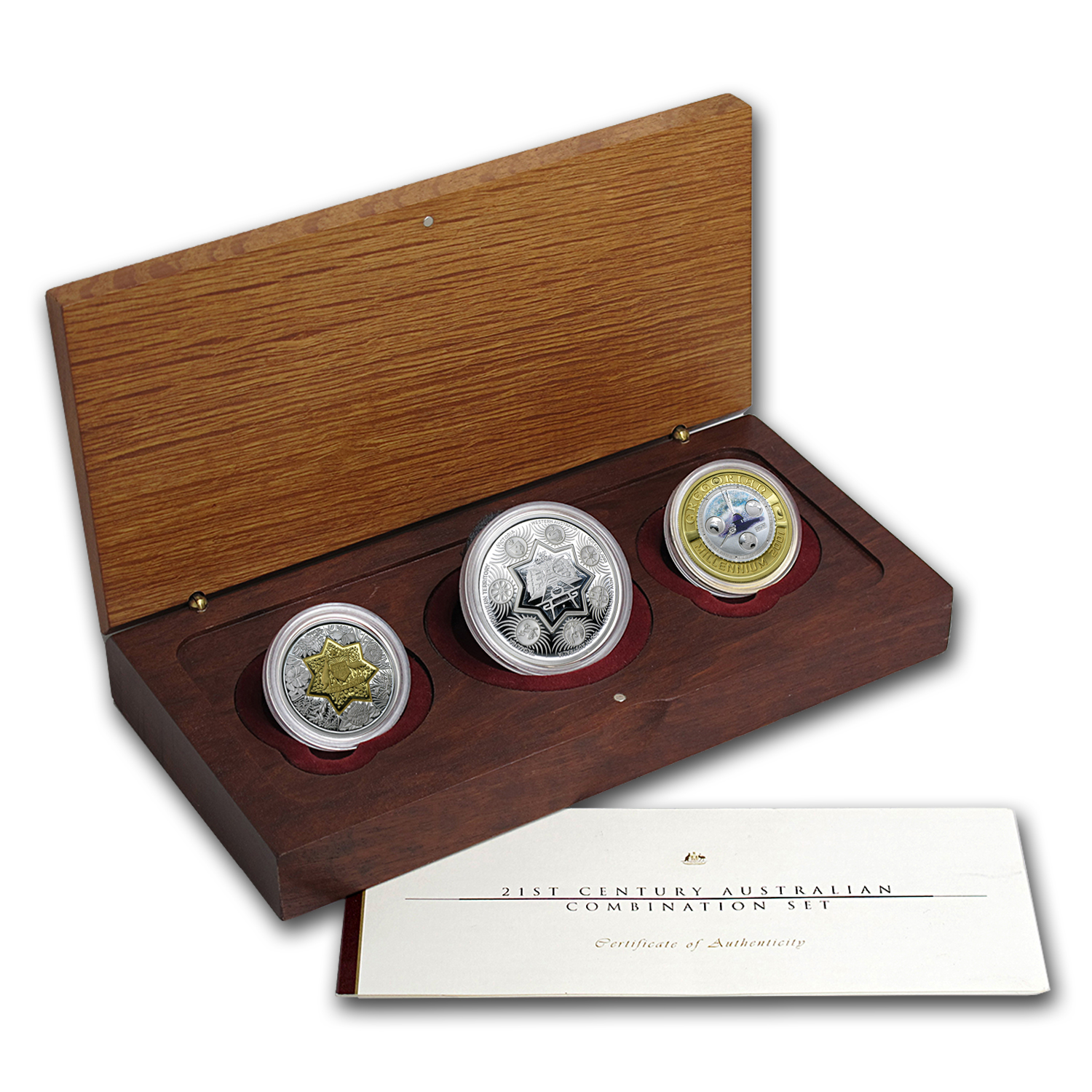 2001 Australia 21st Century Combination Set (w/Box & COA)