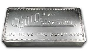 100 Oz Silver Bar Engelhard Gold Standard 061 100