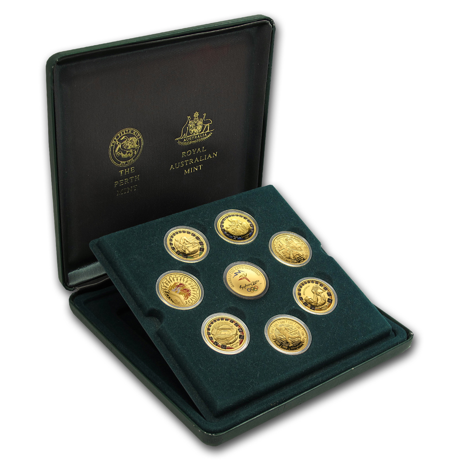 2000 Gold Sydney Olympics Coin Set w/Box & CoA