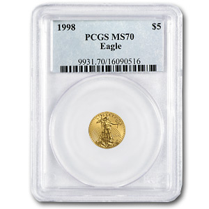 1998 1/10 oz Gold American Eagle MS-70 PCGS