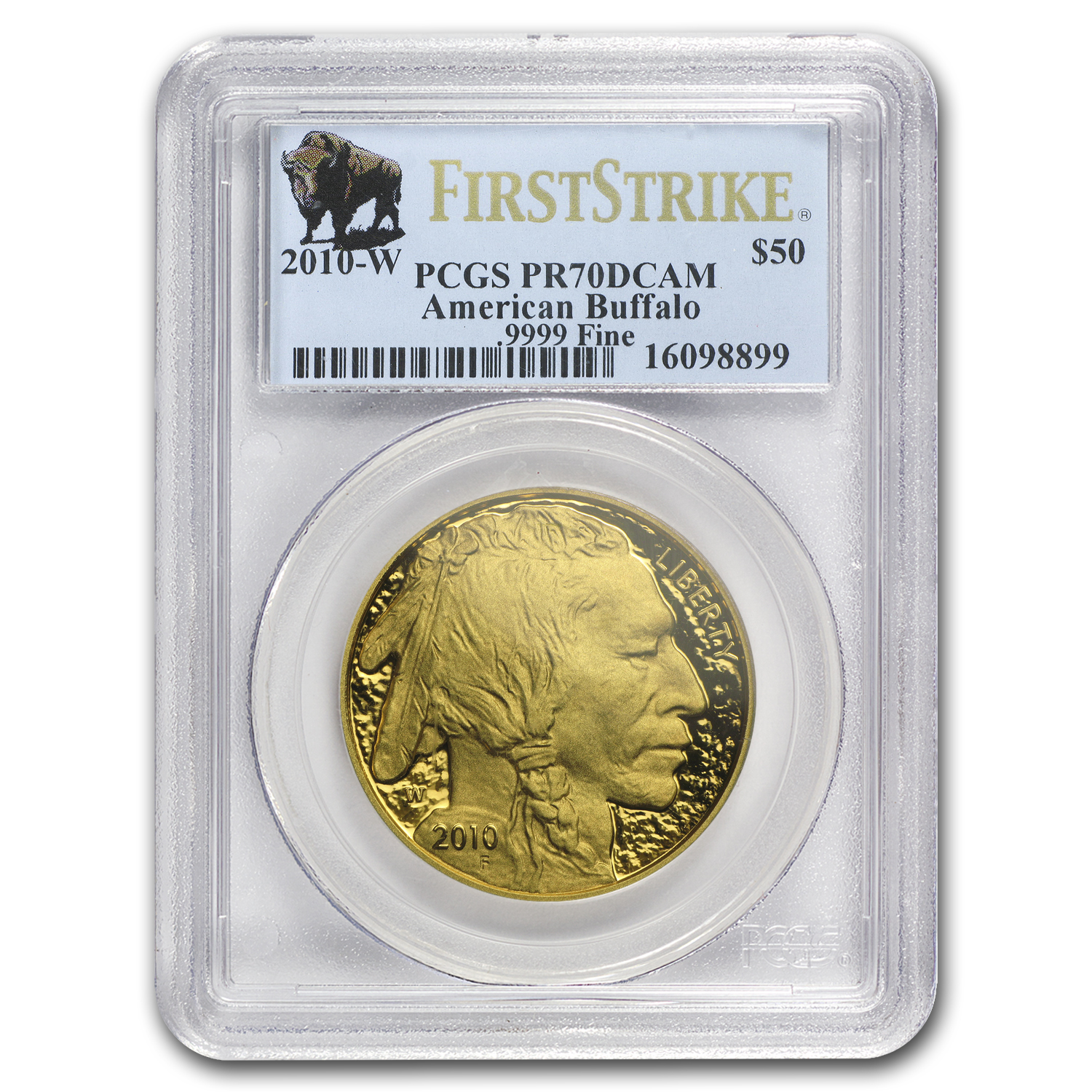 2010-W 1 oz Proof Gold Buffalo PR-70 PCGS (First Strike)