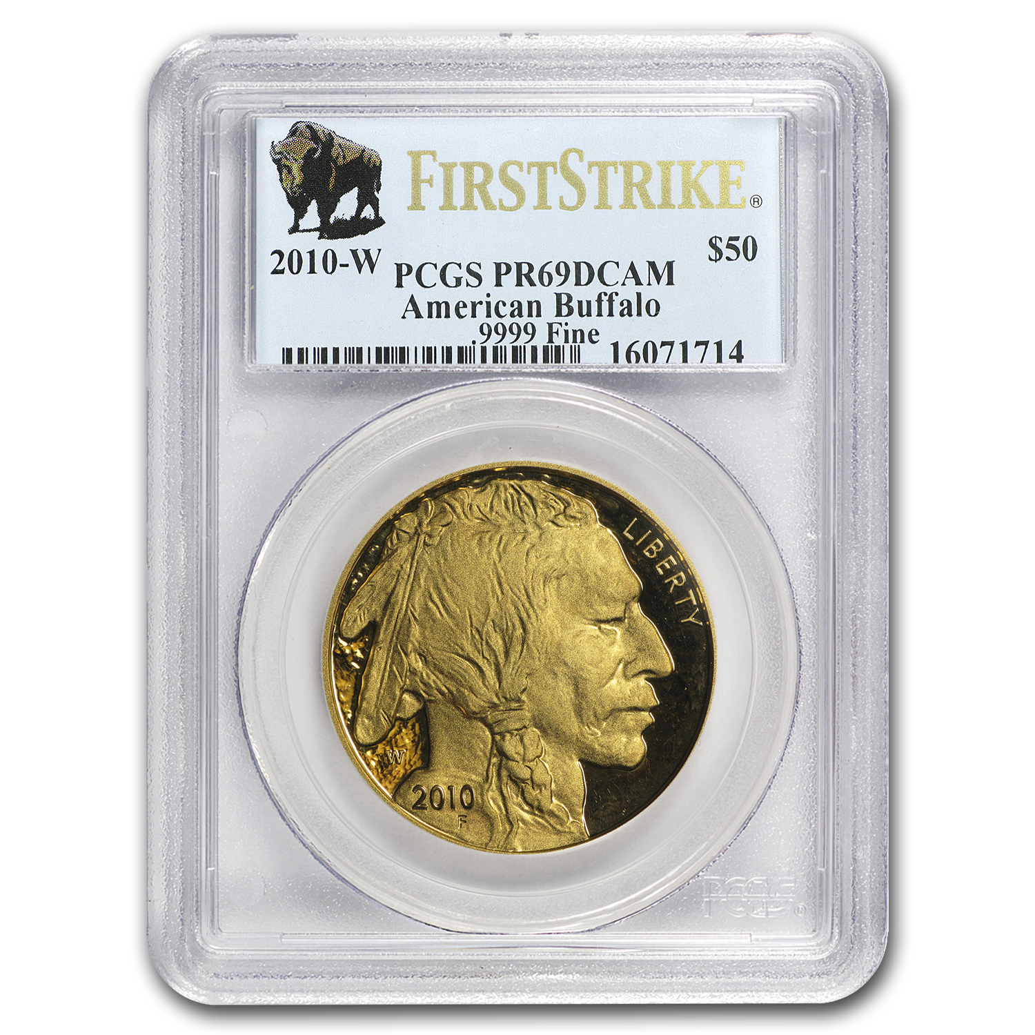 2010-W 1 oz Proof Gold Buffalo PR-69 PCGS (First Strike)