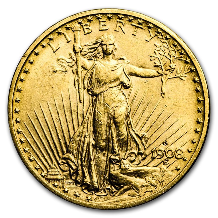 1908 d 20 st gaudens gold double eagle no motto xf 20 double eagles saint gaudens 1907. Black Bedroom Furniture Sets. Home Design Ideas