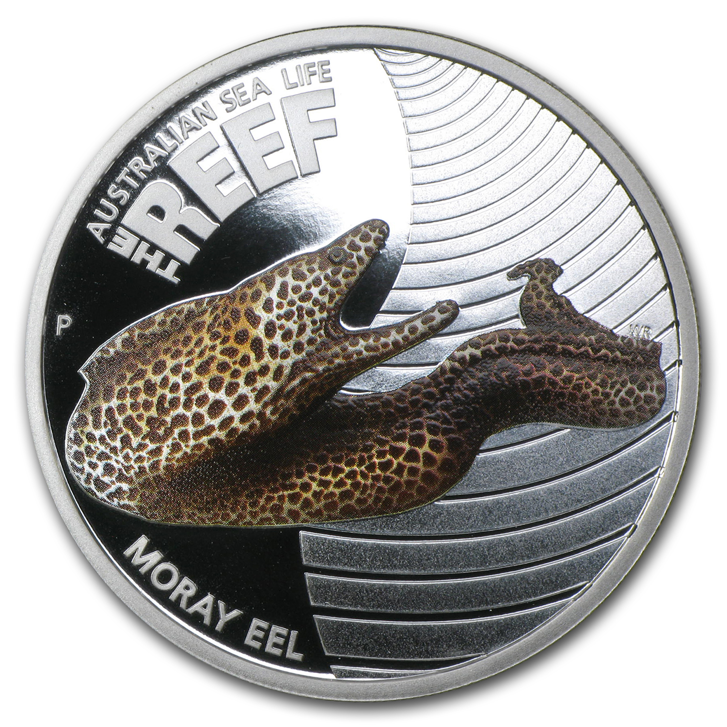 2010 Australia 1/2 oz Silver Moray Eel Proof